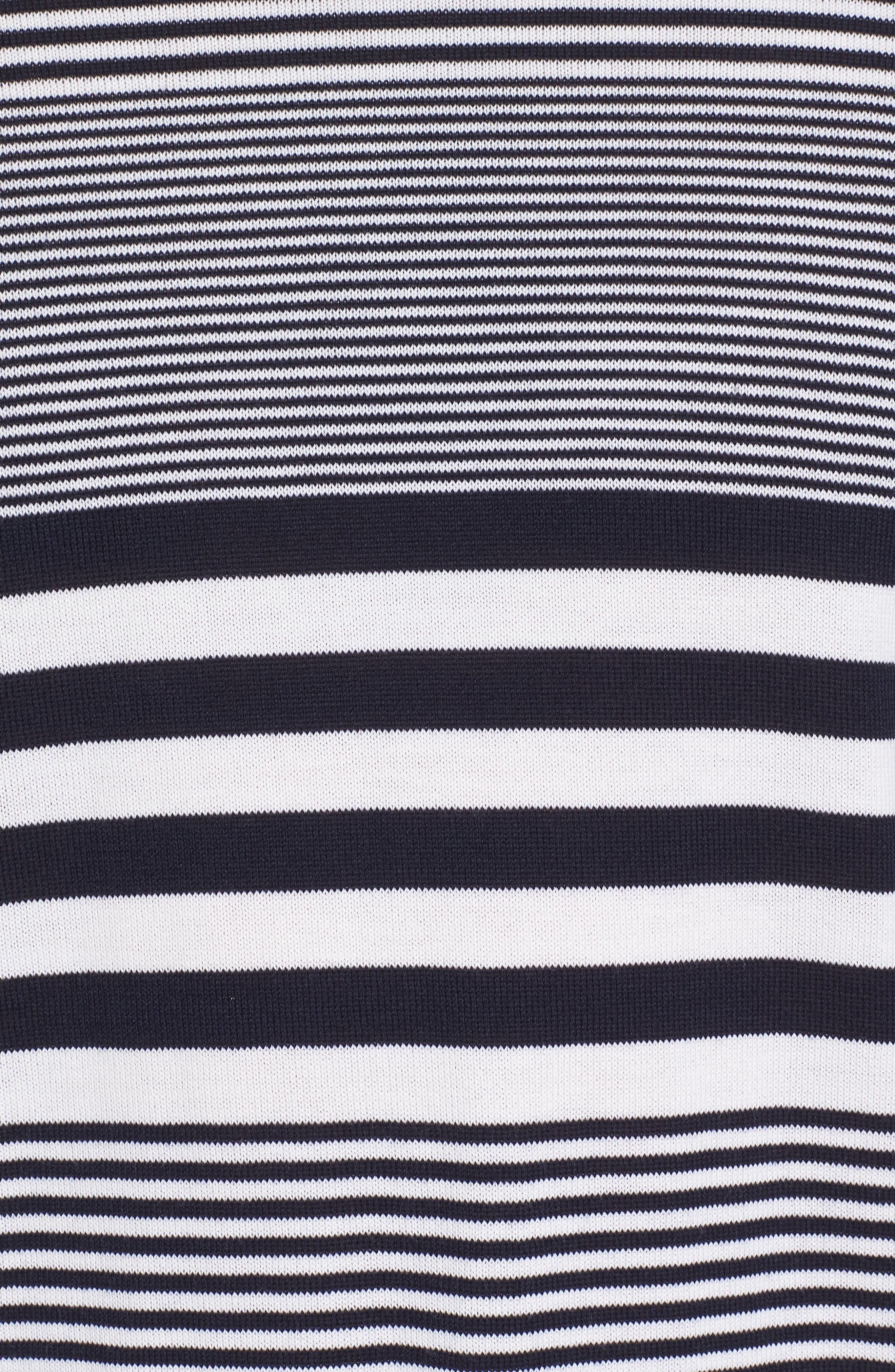 Paul&Shark Stripe Wool Sweater,                             Alternate thumbnail 5, color,                             Navy/ White