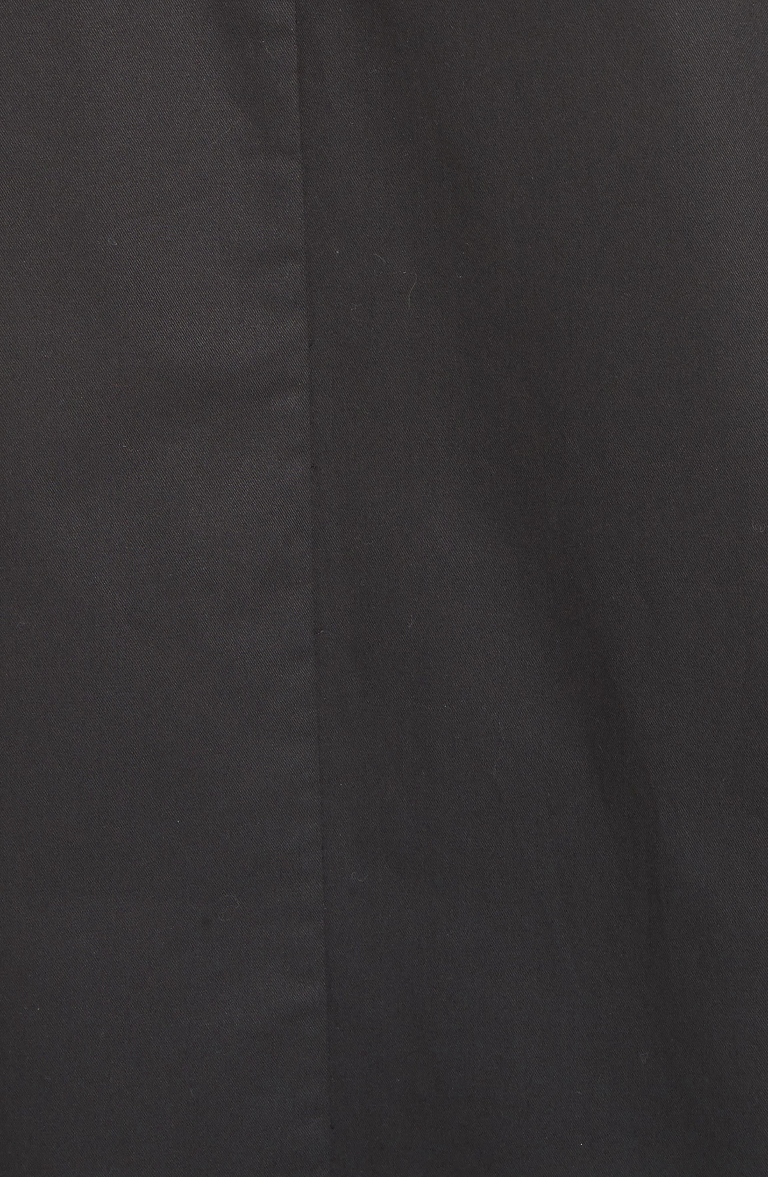 embroidered cutwork minidress,                             Alternate thumbnail 5, color,                             Black