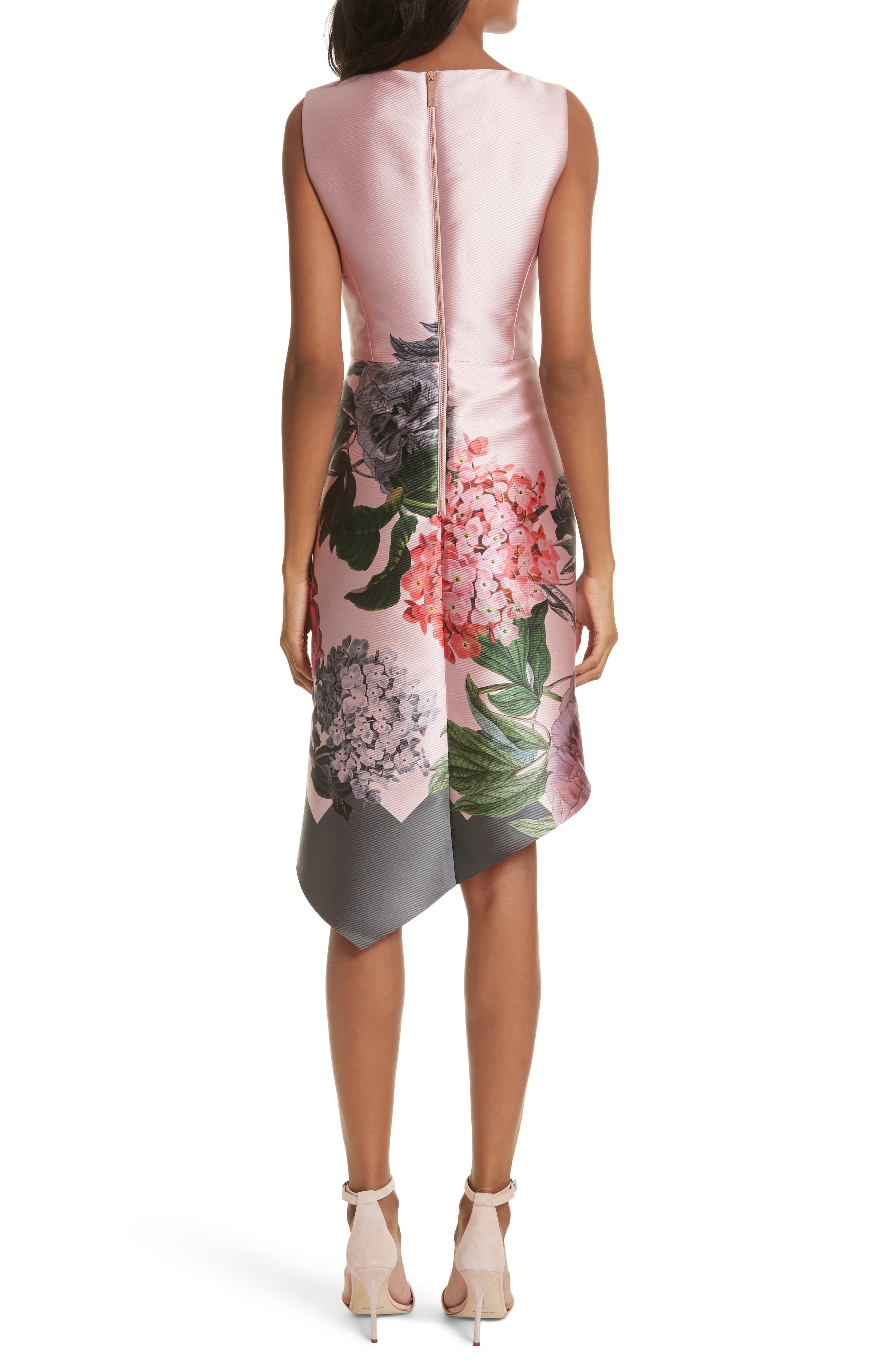 Palace Garden Faux Wrap Dress,                             Alternate thumbnail 2, color,                             Grey
