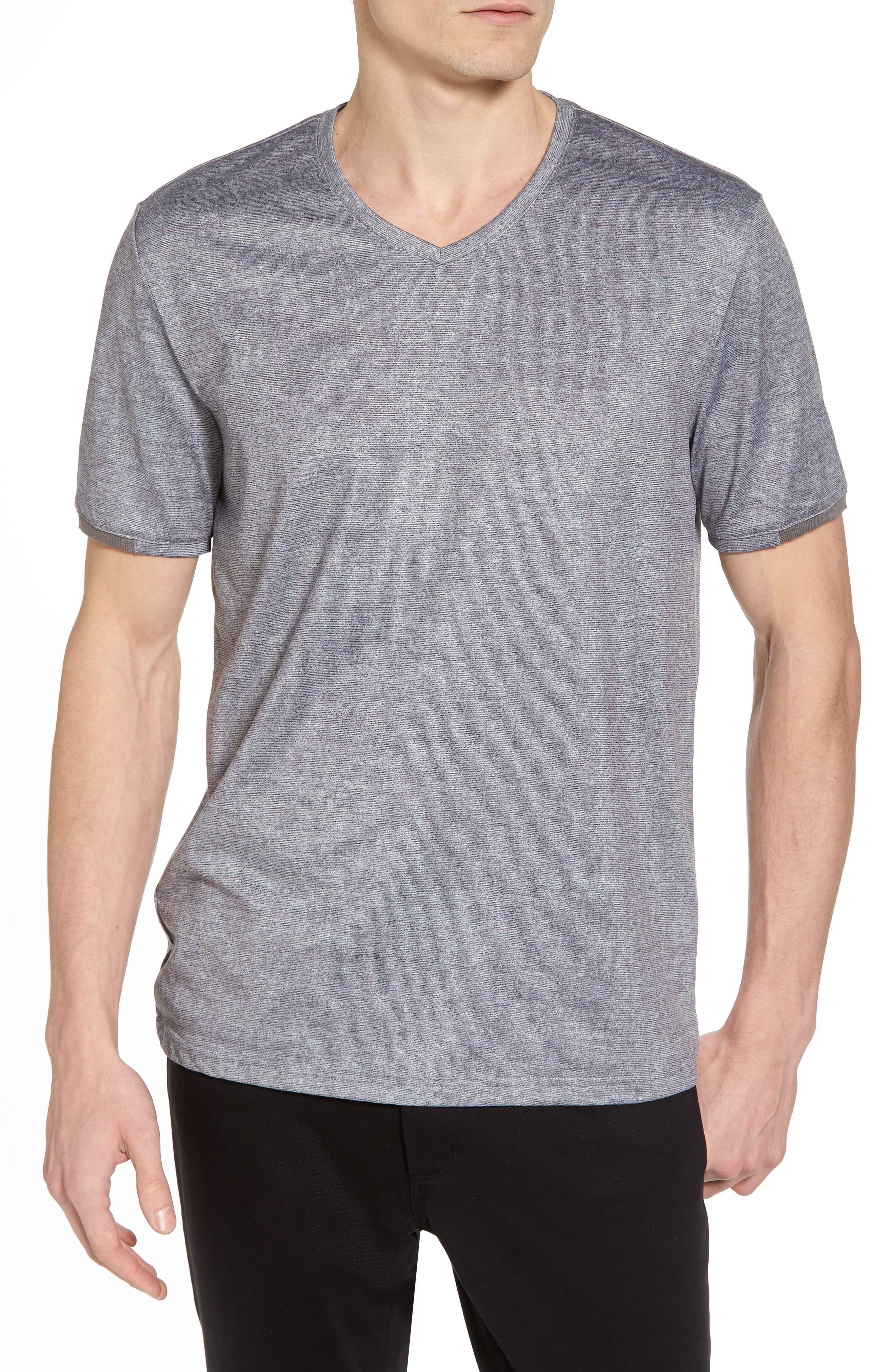 Slim Fit V-Neck T-Shirt,                         Main,                         color, Grey Solid
