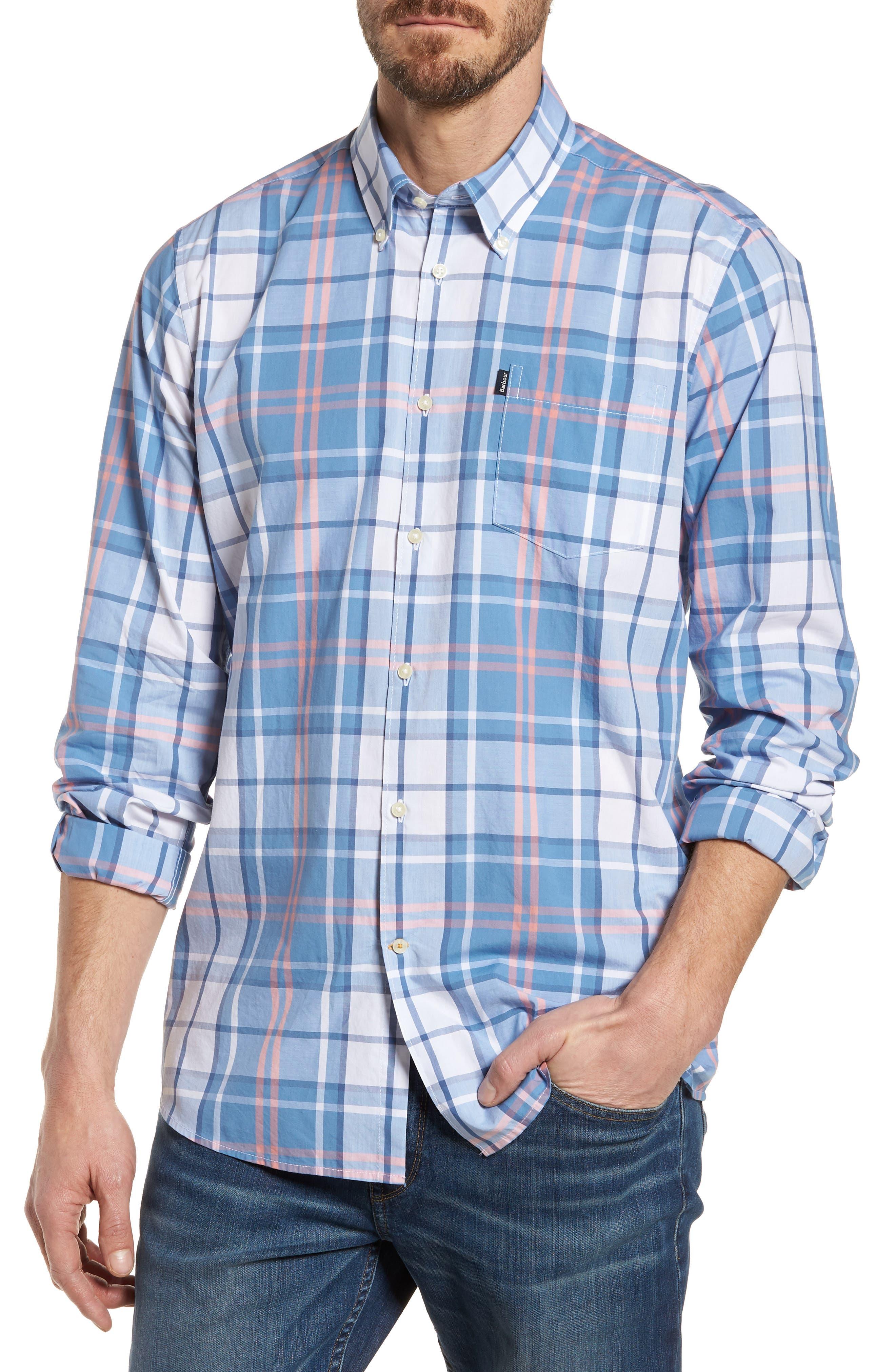 Barbour Jeff Trim Fit Plaid Sport Shirt