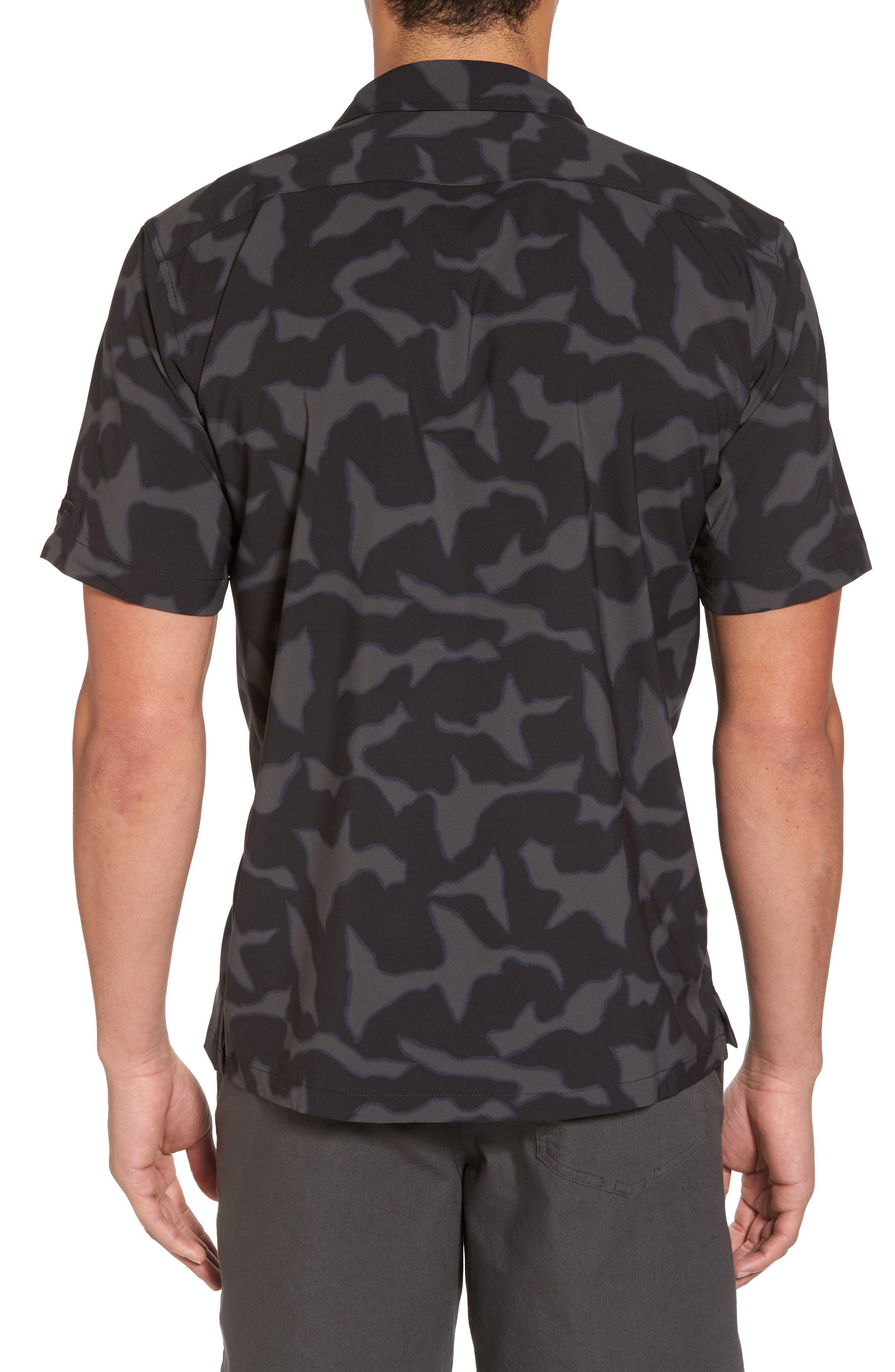 Stretch Planing Hybrid Shirt,                             Alternate thumbnail 2, color,                             Black