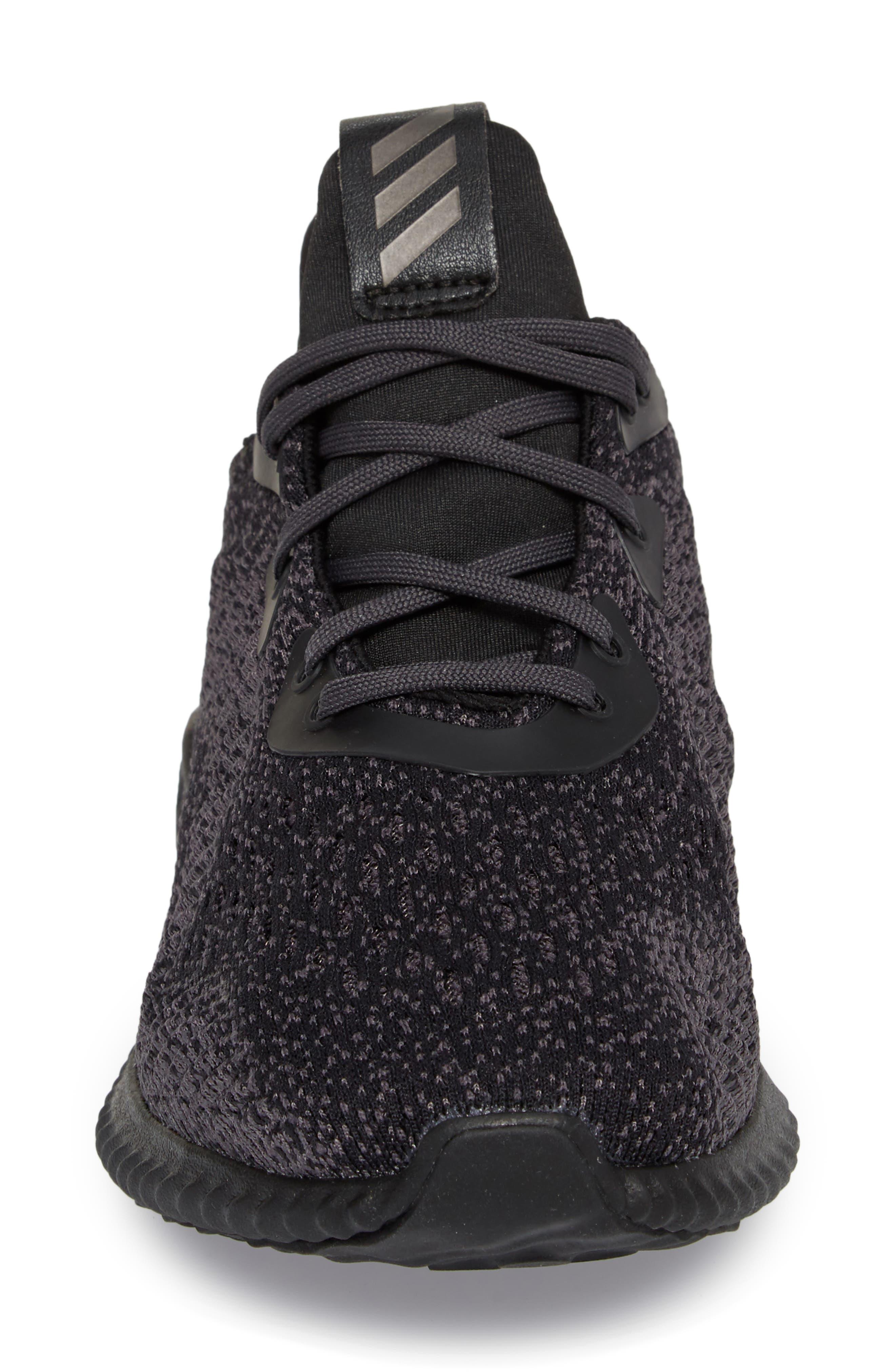 AlphaBounce EM Running Shoe,                             Alternate thumbnail 4, color,                             Core Black/ Trace Grey/ Carbon