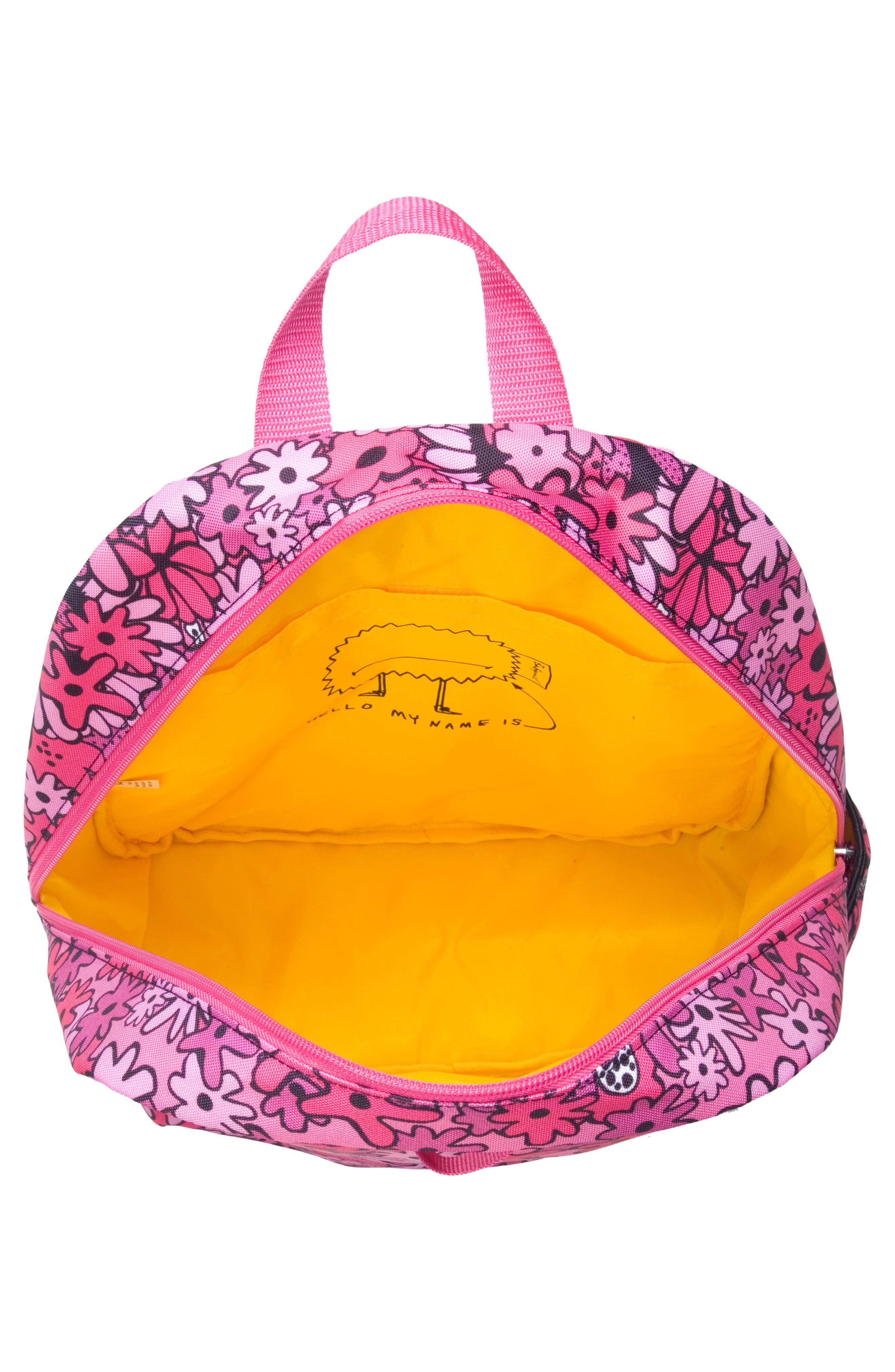 Zip & Zoe Floral Junior Backpack,                             Alternate thumbnail 6, color,                             Floral Pink