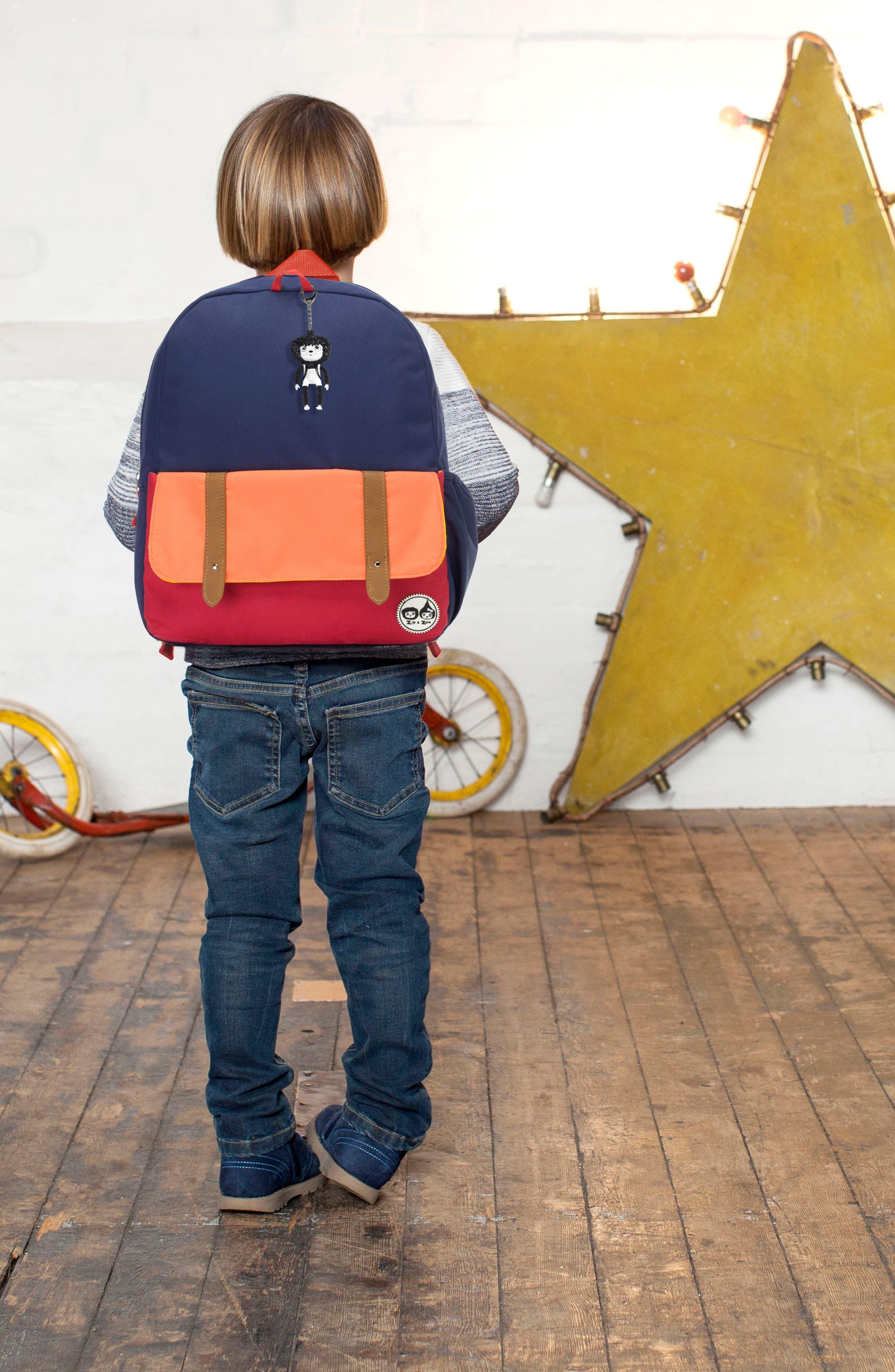 Zip & Zoe Colorblock Junior Backpack,                             Alternate thumbnail 12, color,                             Blue