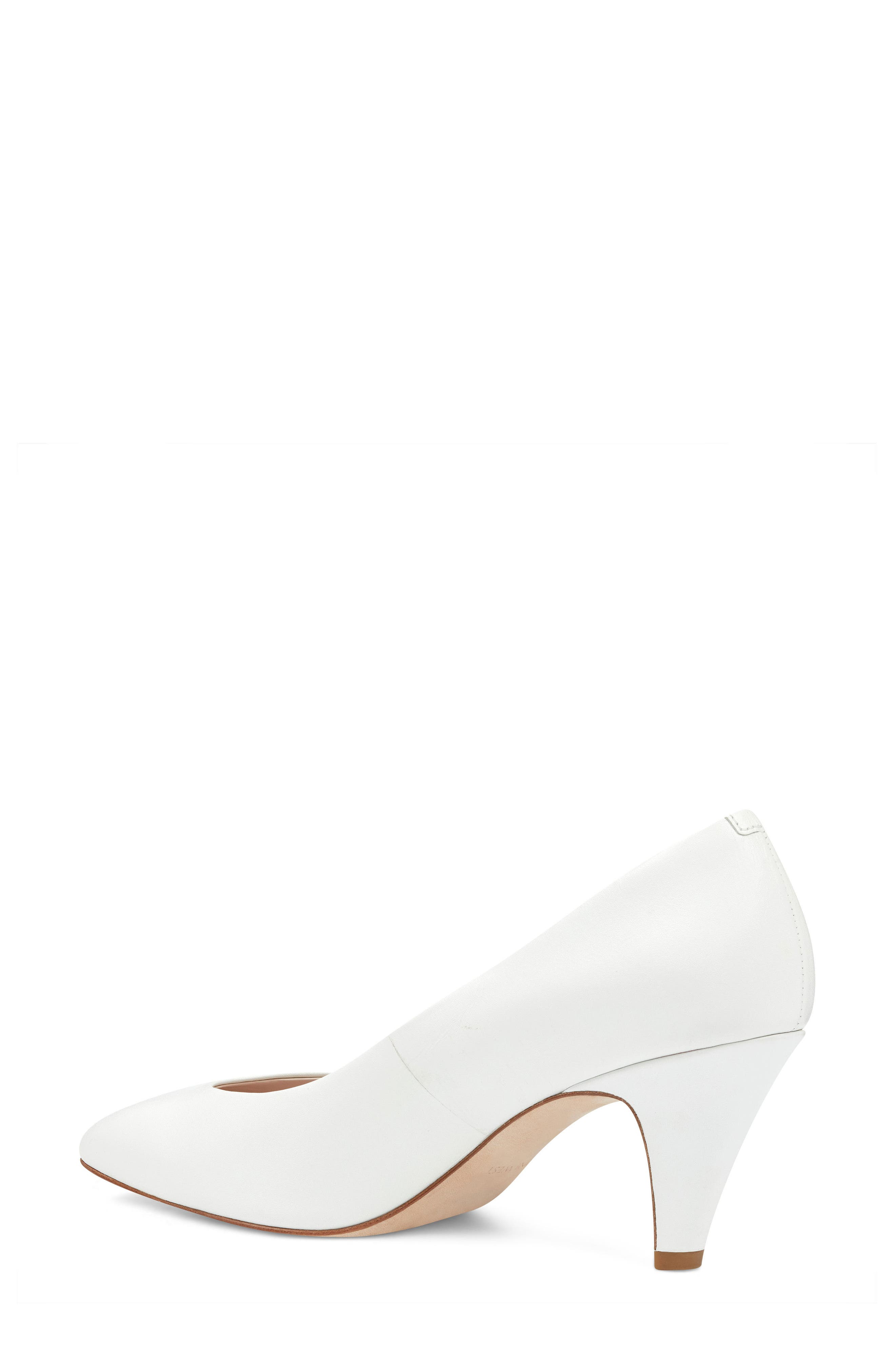 Faith - 40th Anniversary Capsule Collection Pump,                             Alternate thumbnail 2, color,                             White Leather