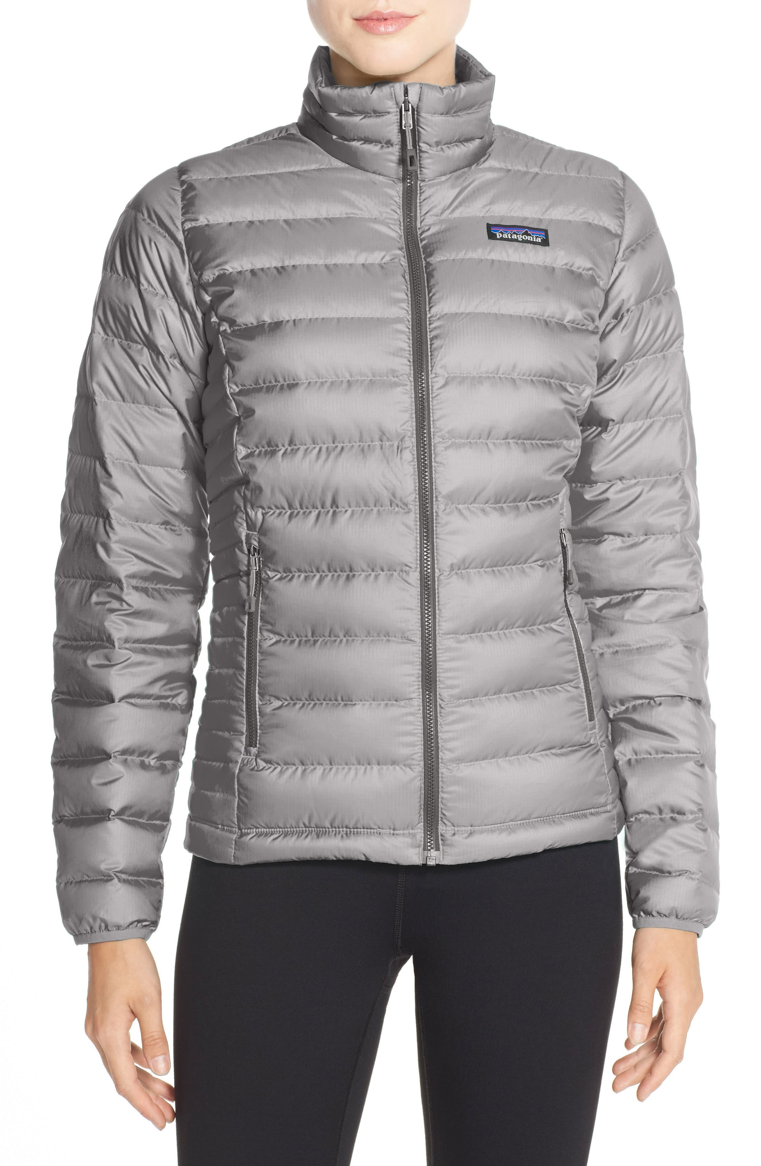 Packable Down Jacket,                         Main,                         color, Feather Grey