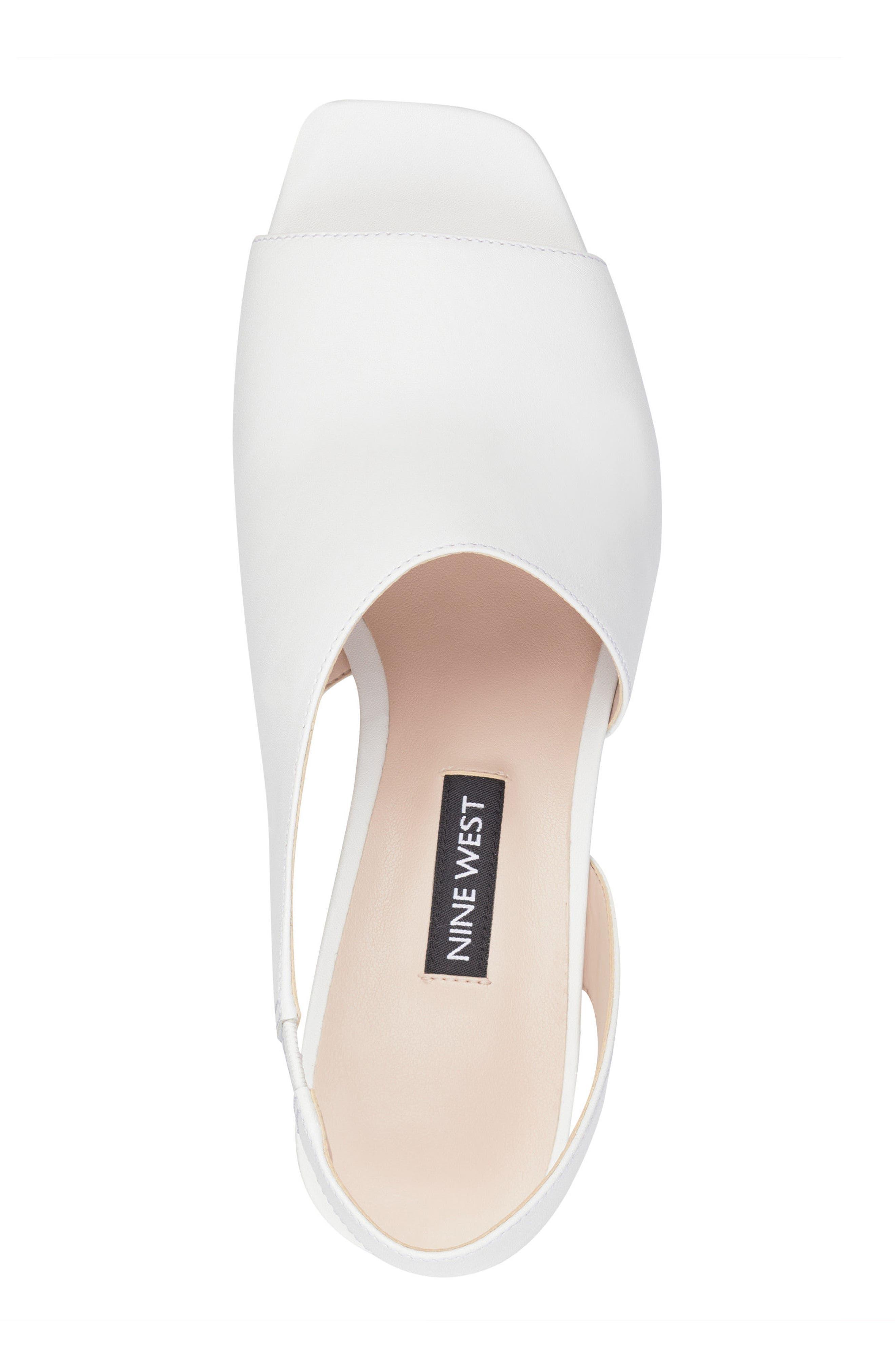 Orrus Asymmetrical Sandal,                             Alternate thumbnail 5, color,                             White Leather