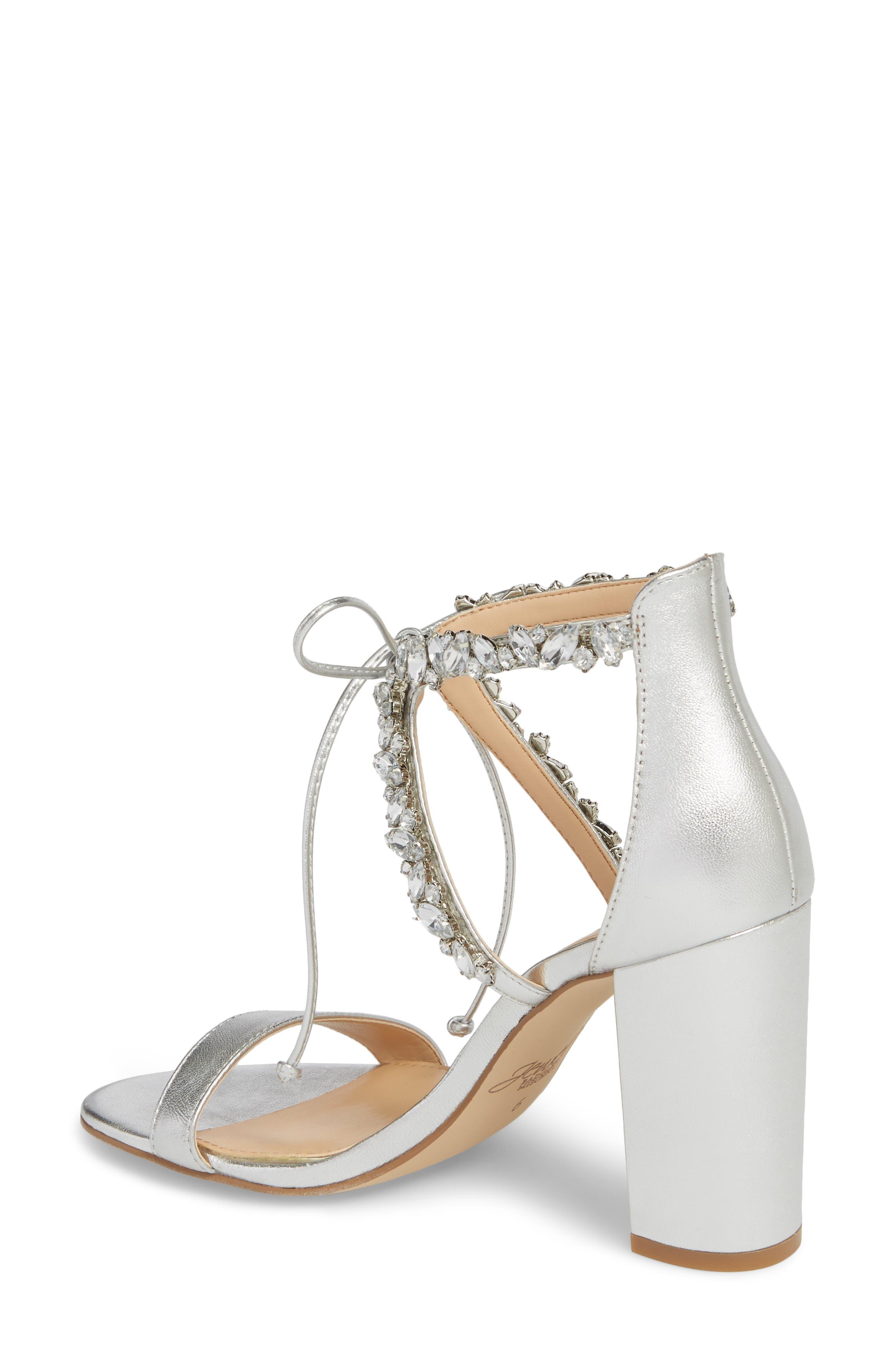 Thamar Embellished Sandal,                             Alternate thumbnail 2, color,                             Silver Leather