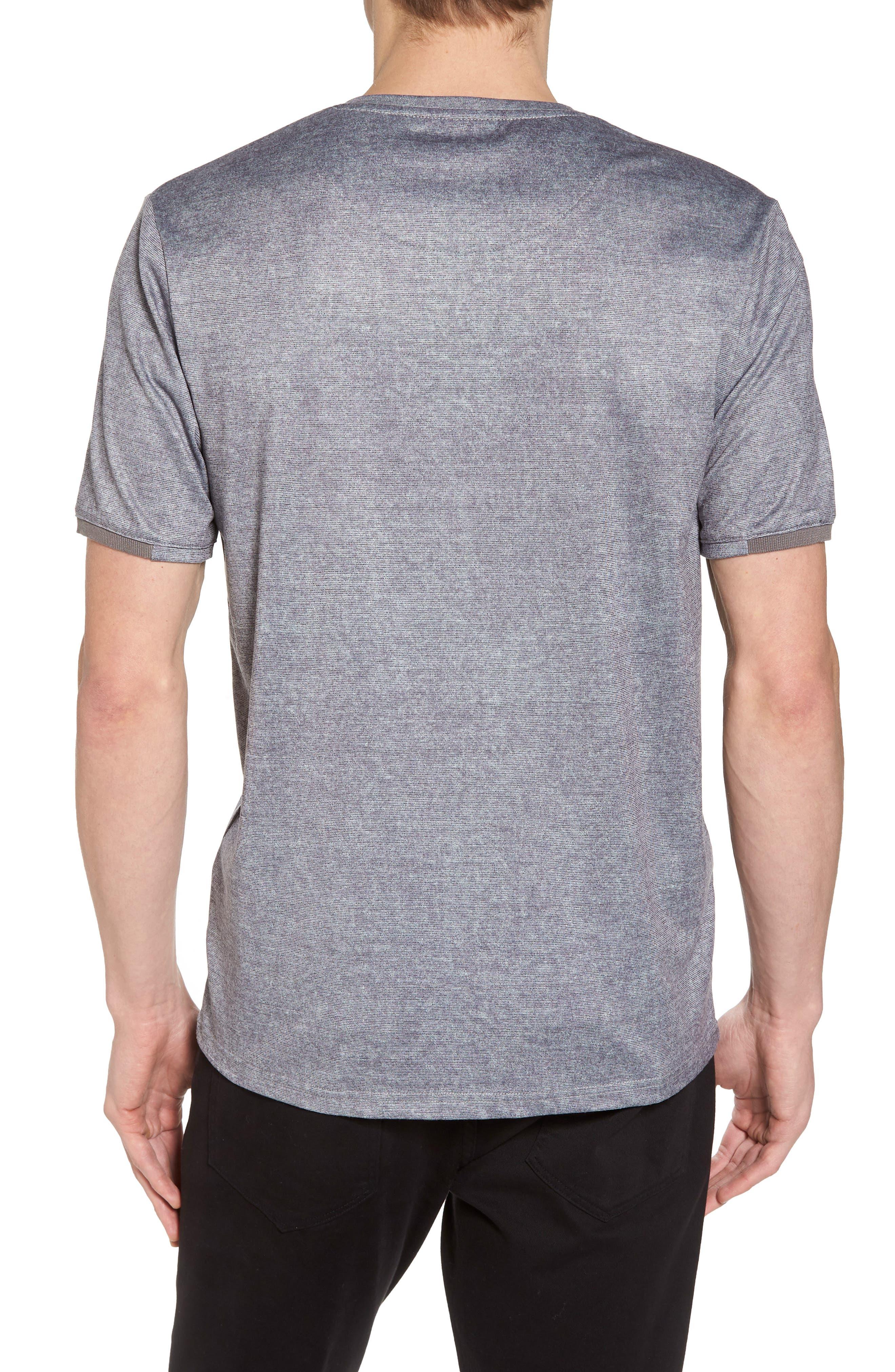 Slim Fit V-Neck T-Shirt,                             Alternate thumbnail 2, color,                             Grey Solid