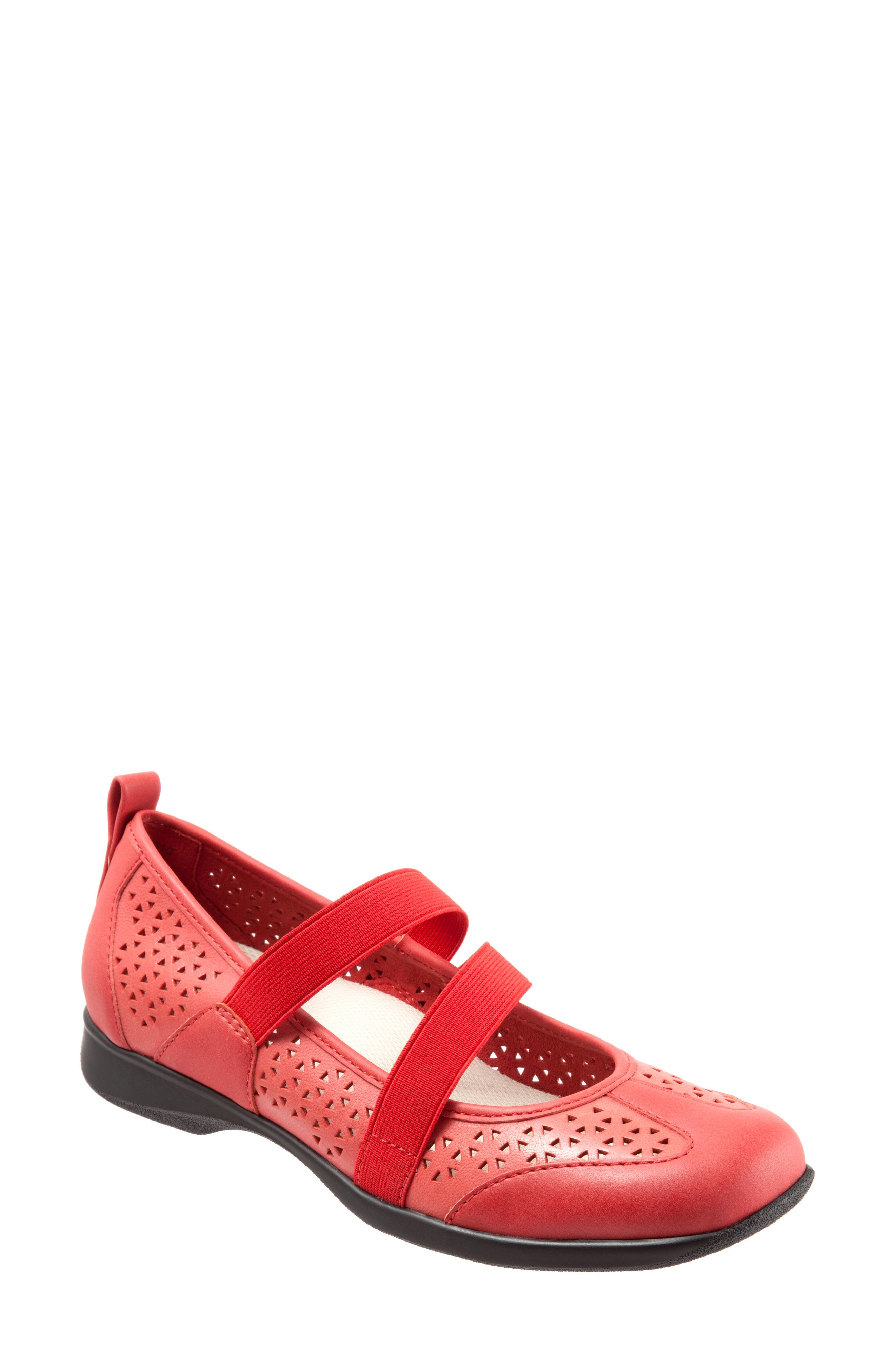 Josie Flat,                             Main thumbnail 1, color,                             Red Leather