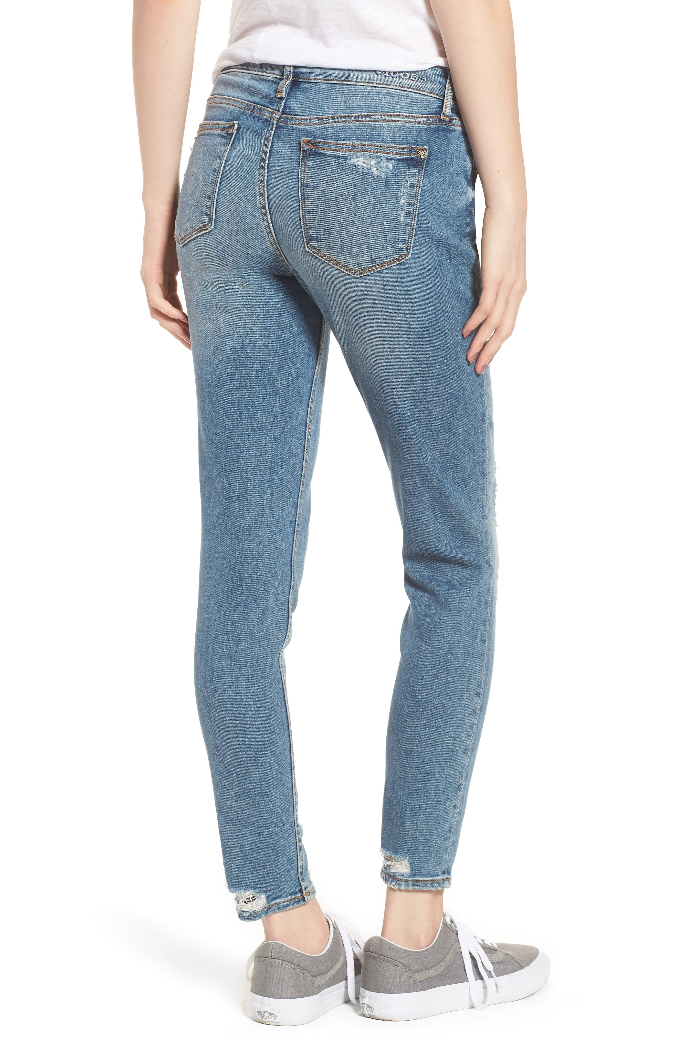Jagger Decon Distressed Skinny Jeans,                             Alternate thumbnail 2, color,                             Medium Wash