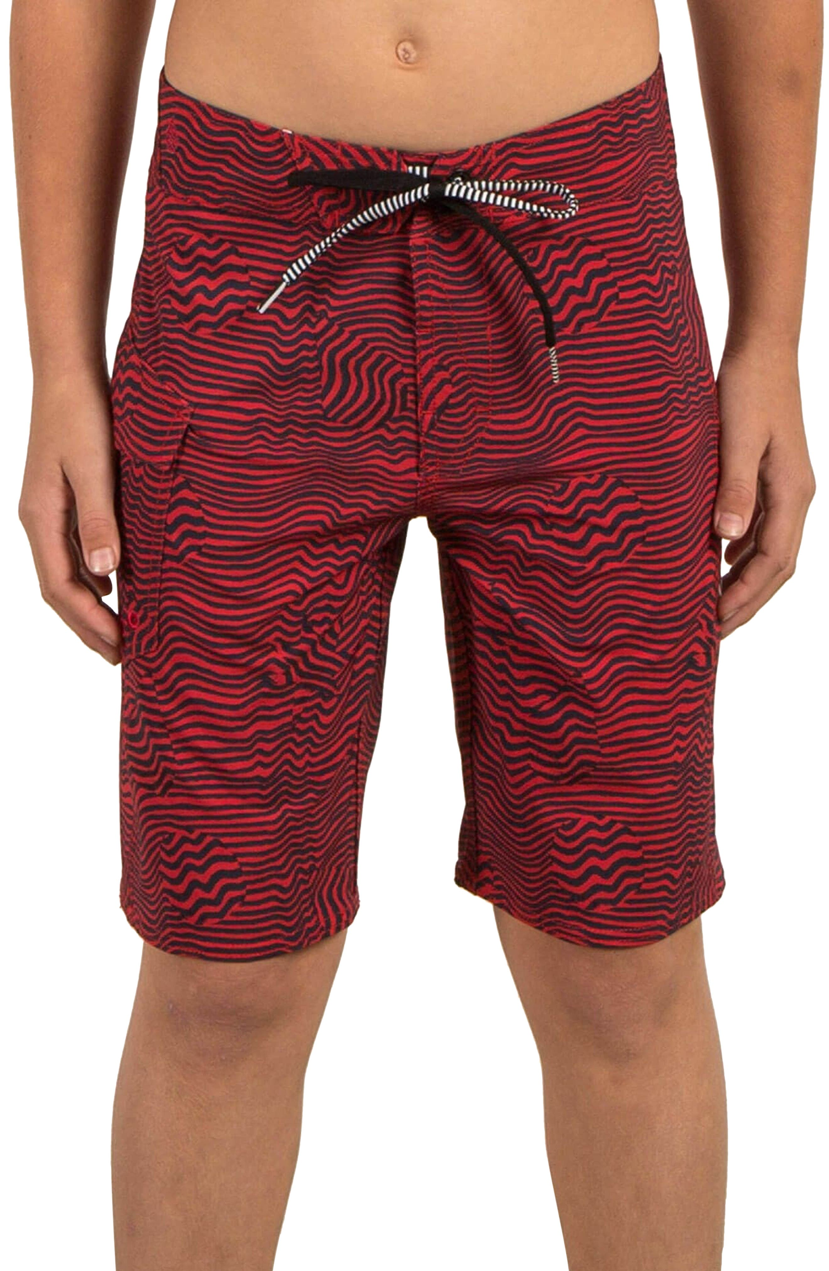 Magnetic Stone Board Shorts,                             Alternate thumbnail 2, color,                             True Red