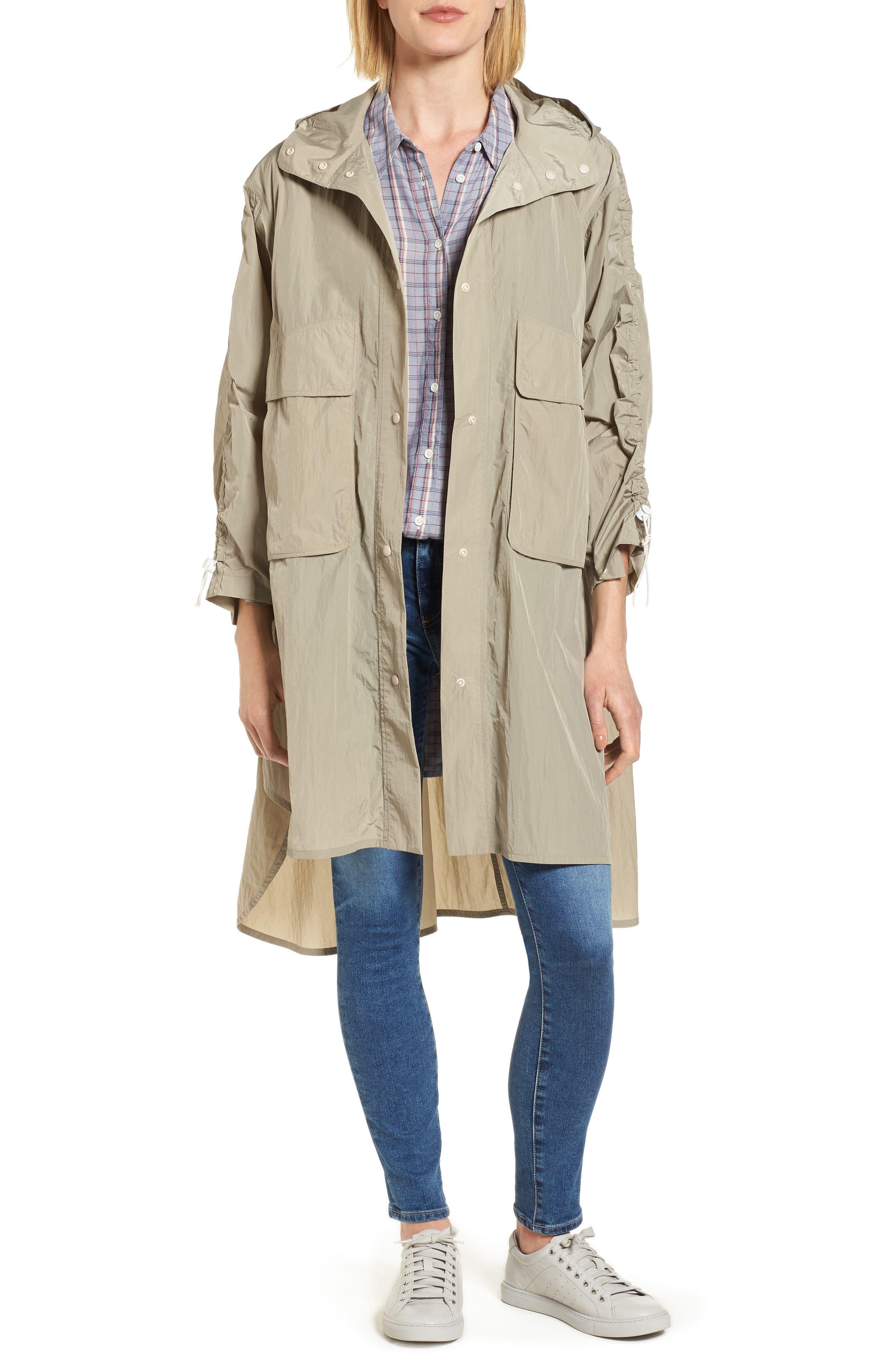 Florence Hooded Jacket,                             Main thumbnail 1, color,                             Dune