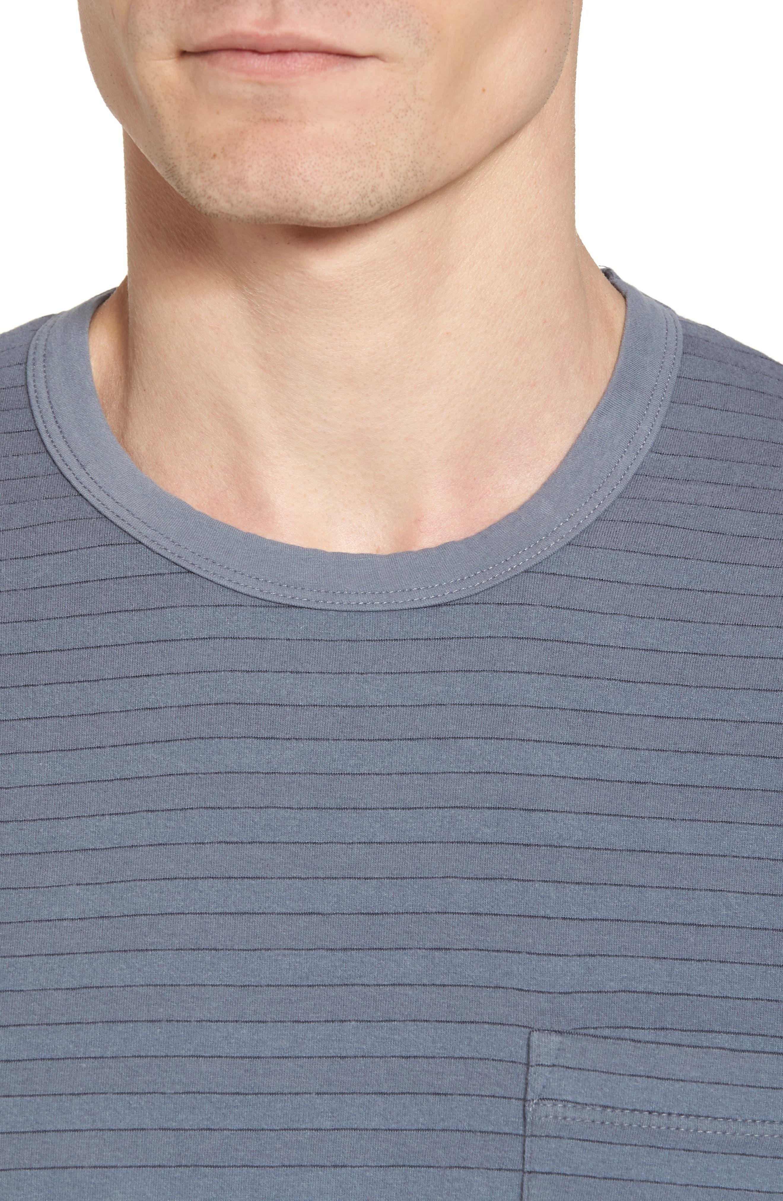 Alternate Image 4  - James Perse Shadow Stripe Pocket T-Shirt