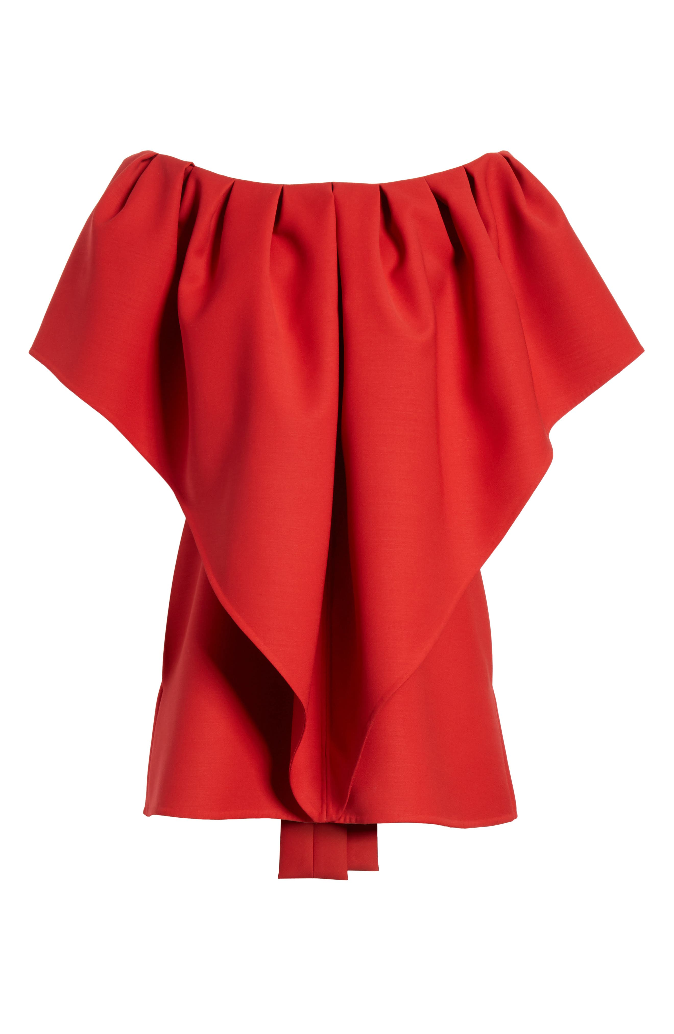 Very Valentino Off the Shoulder Dress,                             Alternate thumbnail 7, color,                             Red