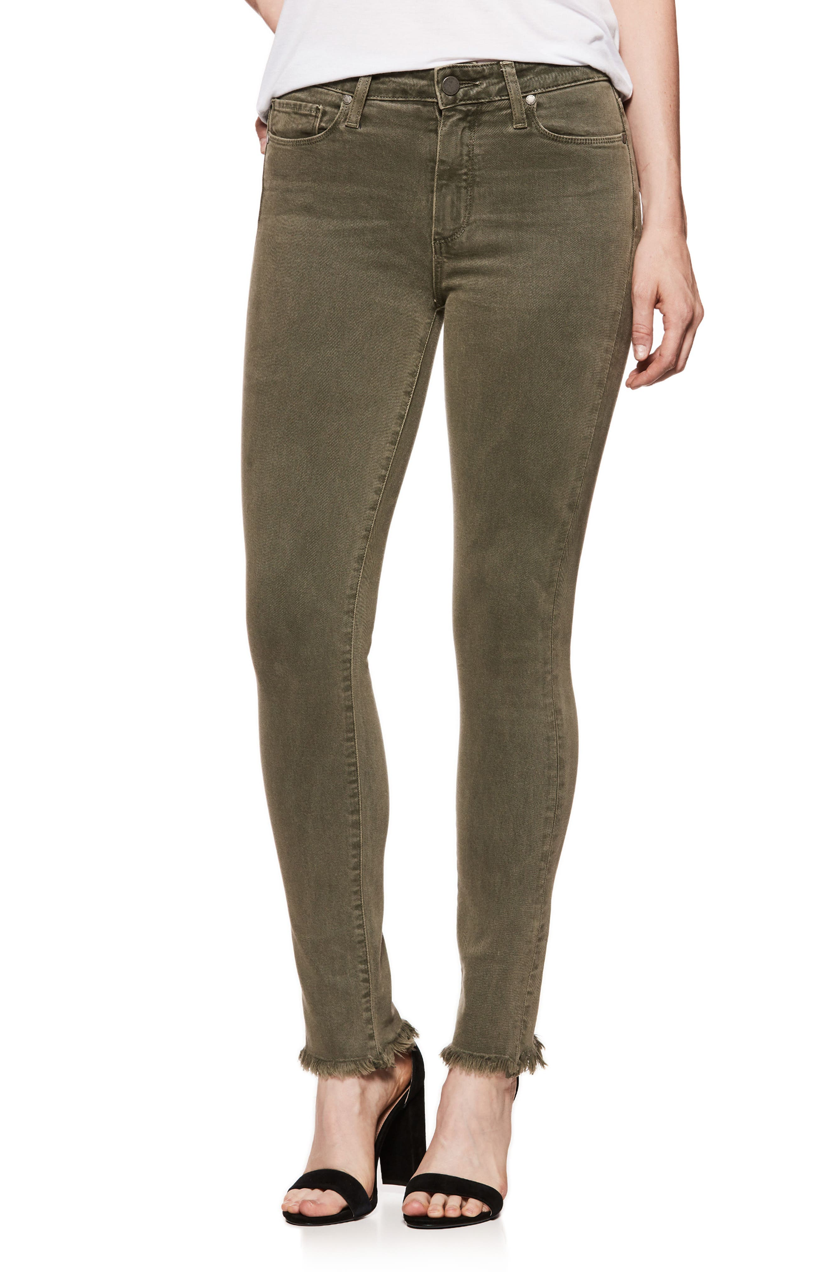 Hoxton High Waist Ankle Skinny Jeans,                         Main,                         color, Vintage Green