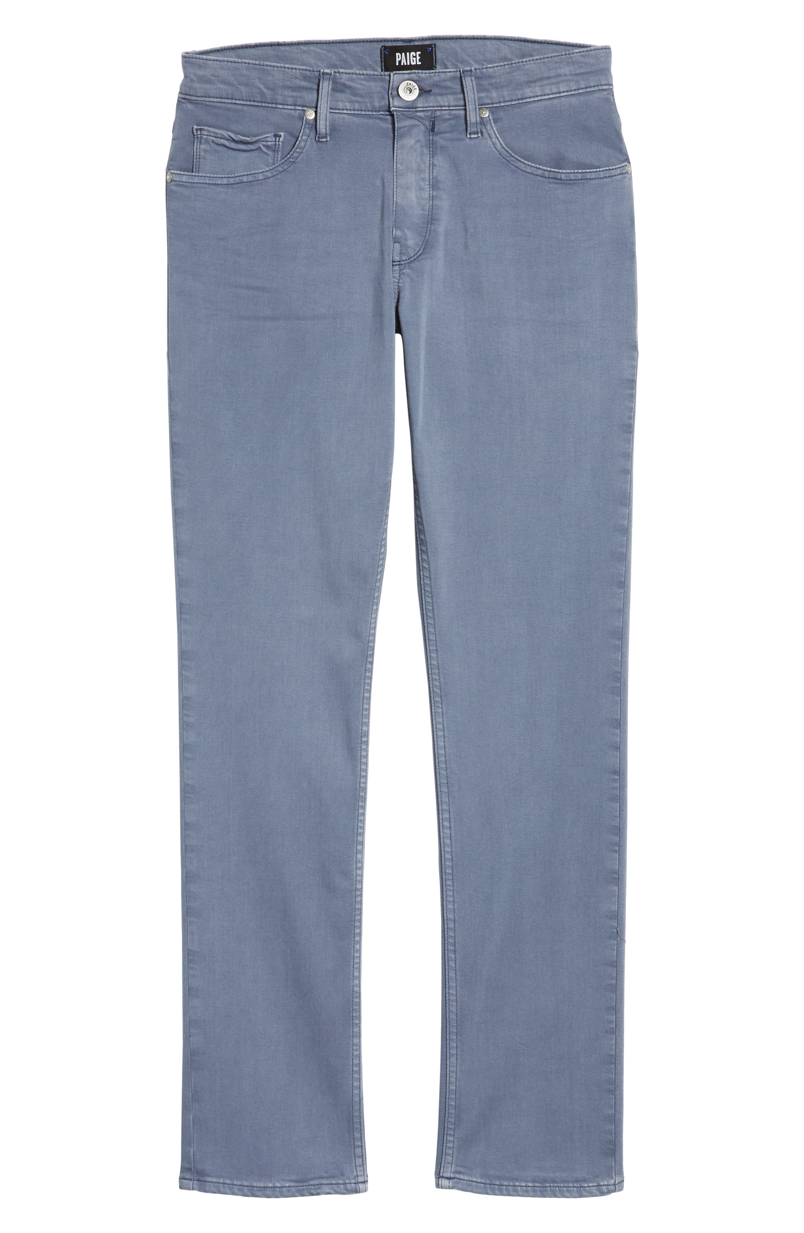 Transcend - Federal Slim Straight Leg Jeans,                             Alternate thumbnail 6, color,                             Vintage Smokey Blue