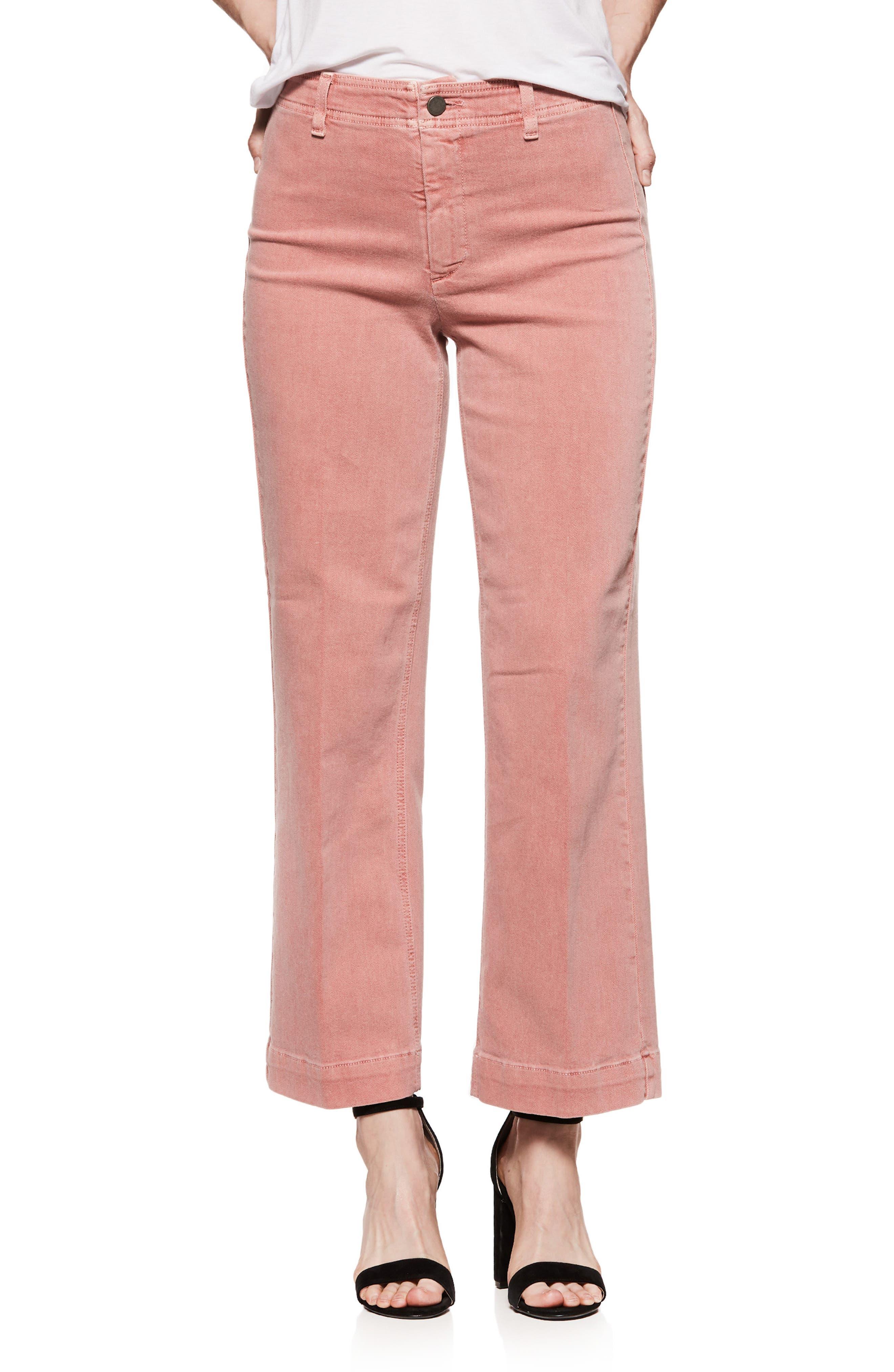 Nellie Clean Front Culotte Jeans,                         Main,                         color, Vintage Desert Sunrise
