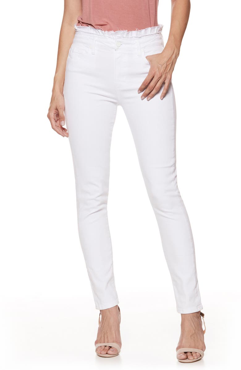 Hoxton Ruffle High Waist Ankle Ultra Skinny Jeans