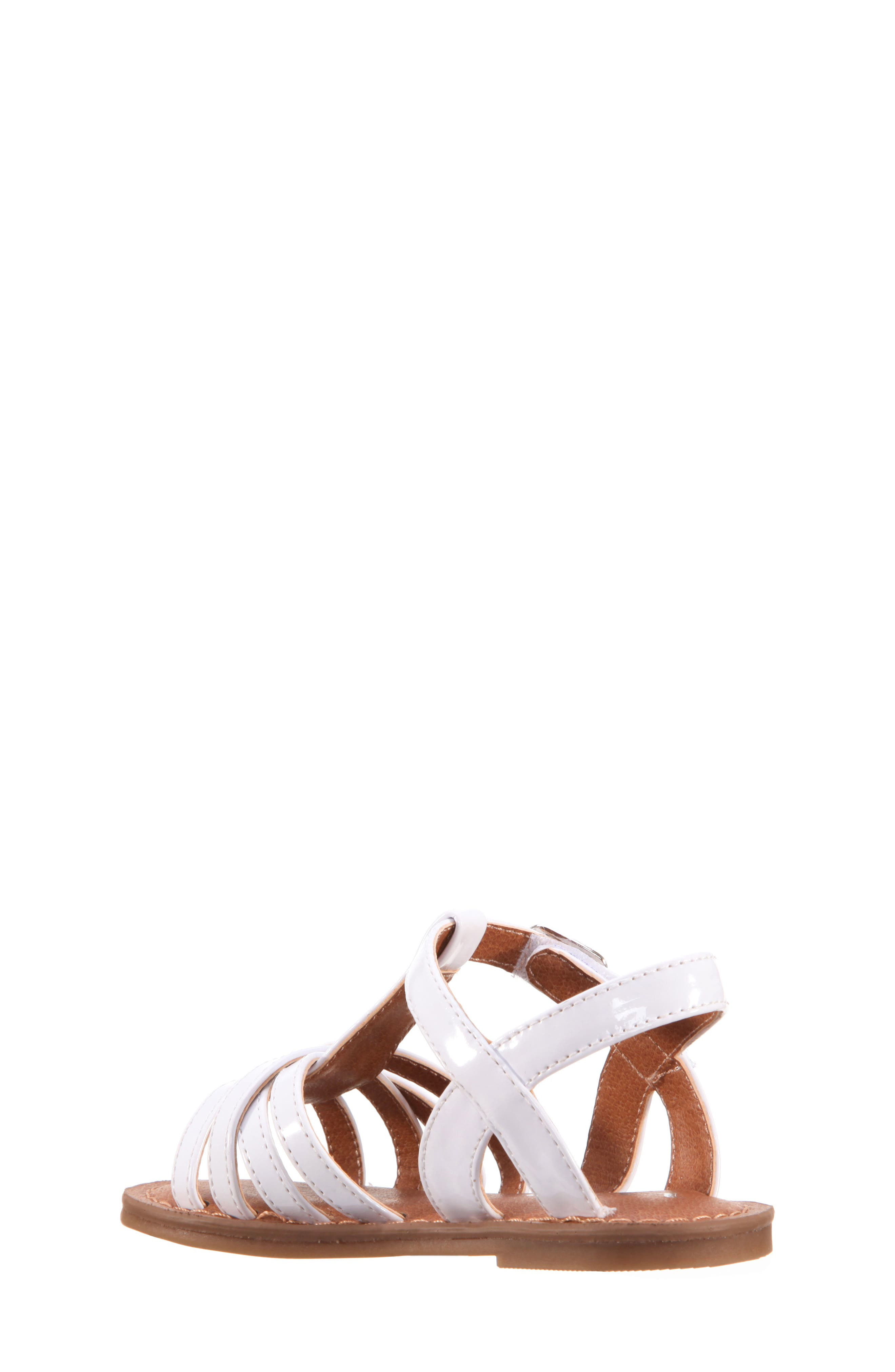 Thereasa Ankle Strap Sandal,                             Alternate thumbnail 2, color,                             White Patent