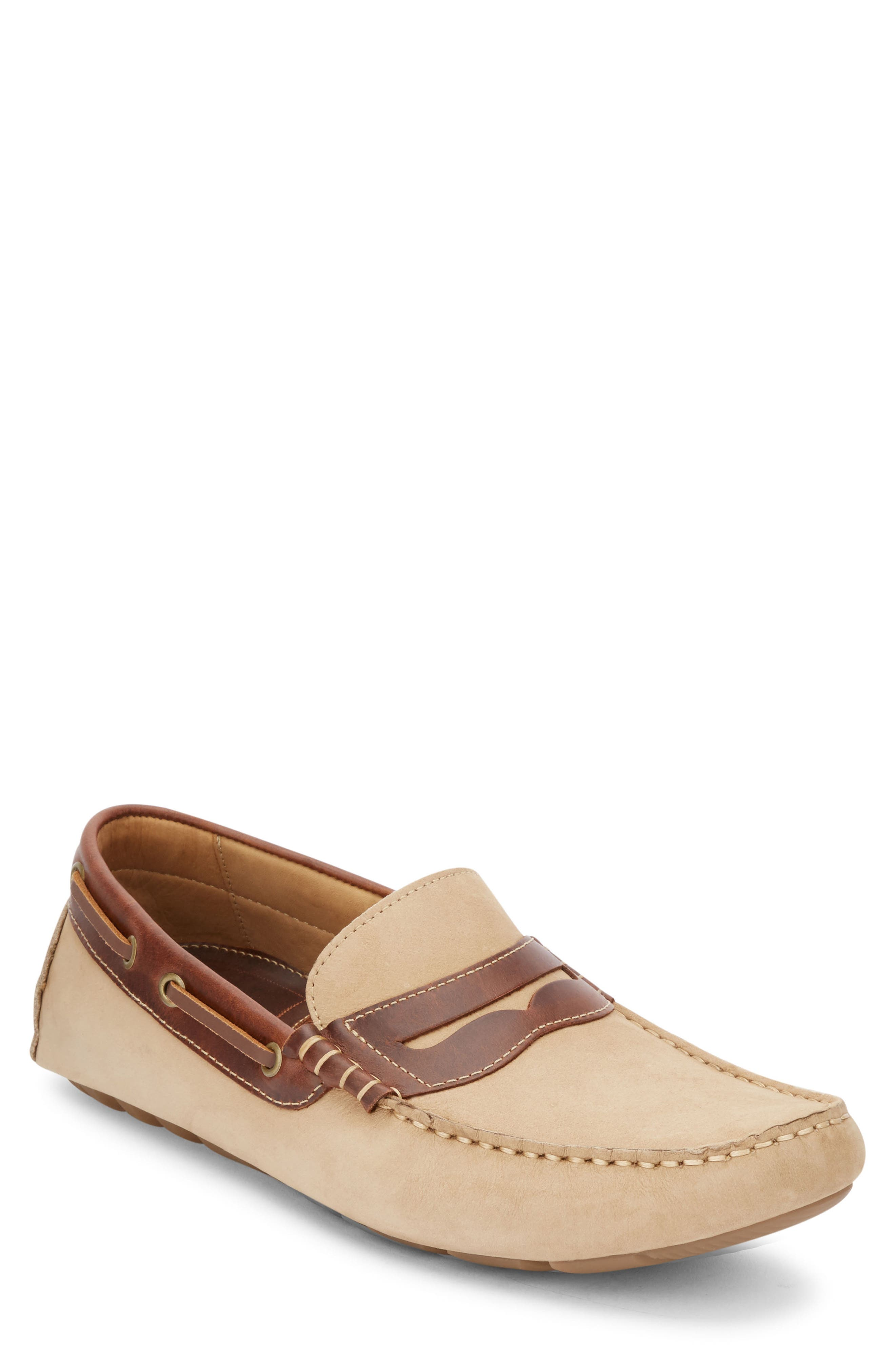 Warrick Driving Shoe,                         Main,                         color, Bone/ Seahorse Leather