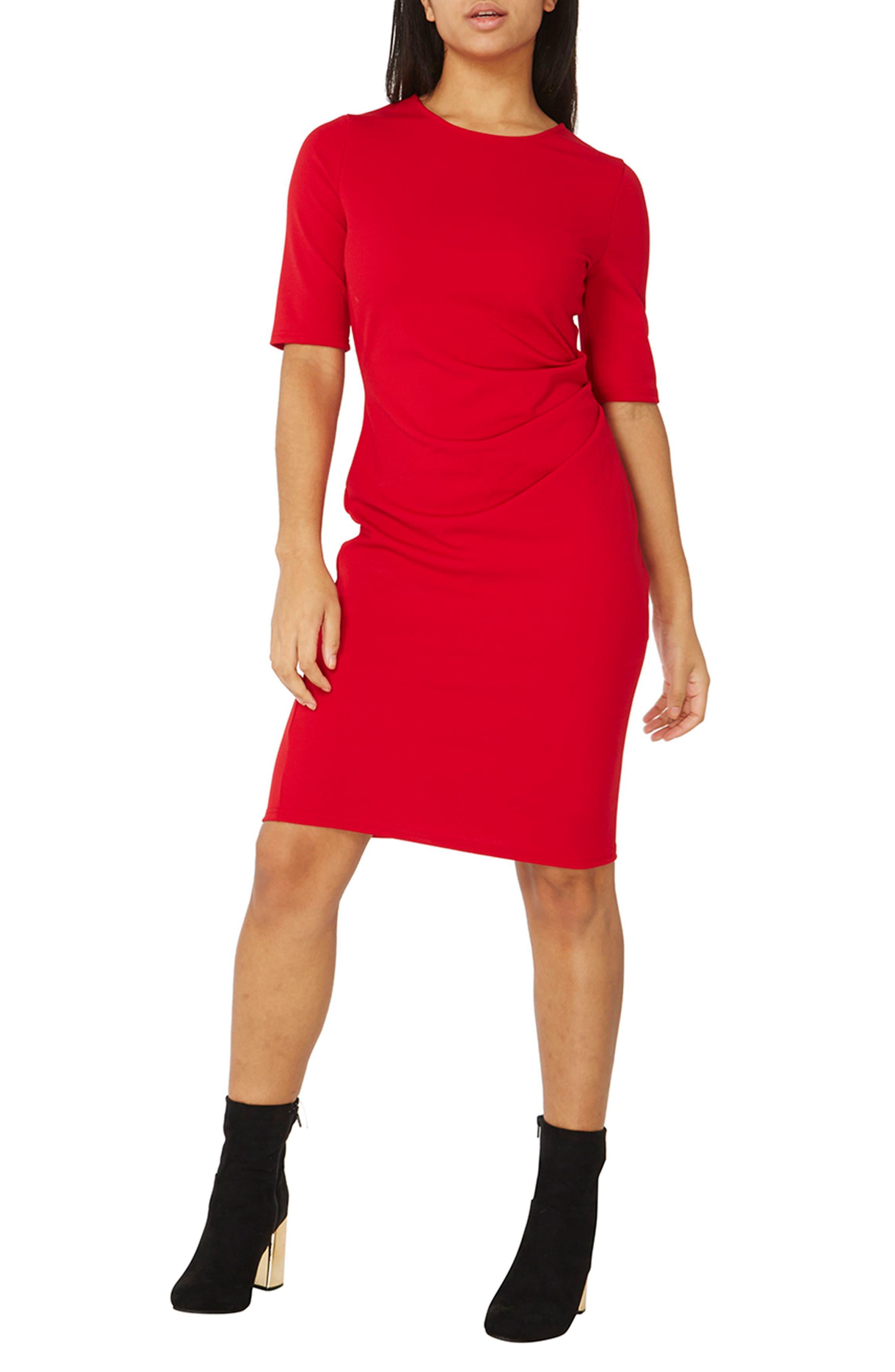Dorothy Perkins Draped Side Body-Con Dress