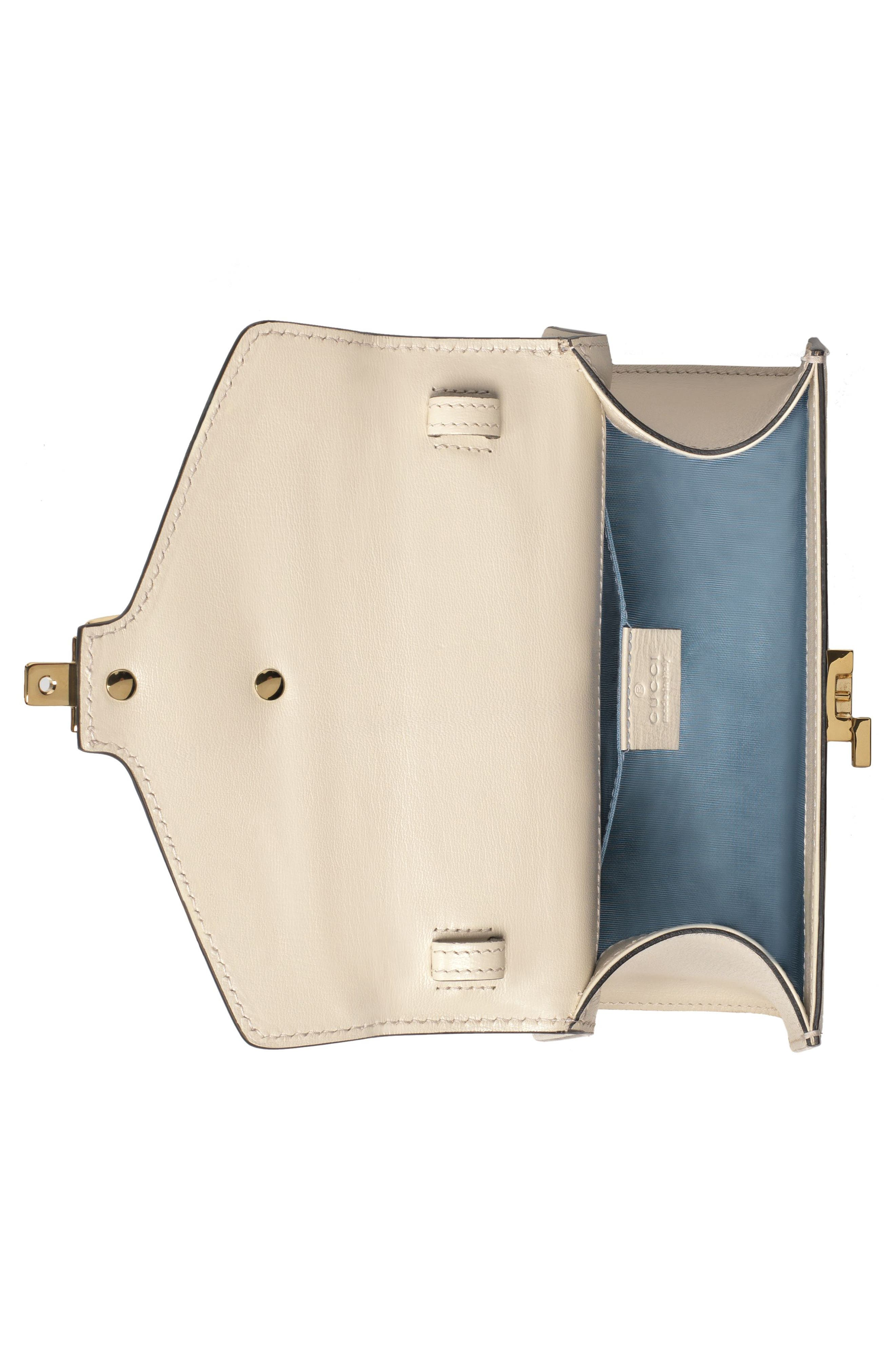 Mini Sylvie Moon & Stars Leather Shoulder Bag,                             Alternate thumbnail 3, color,                             Mystic White/ Oro/ Blue Red