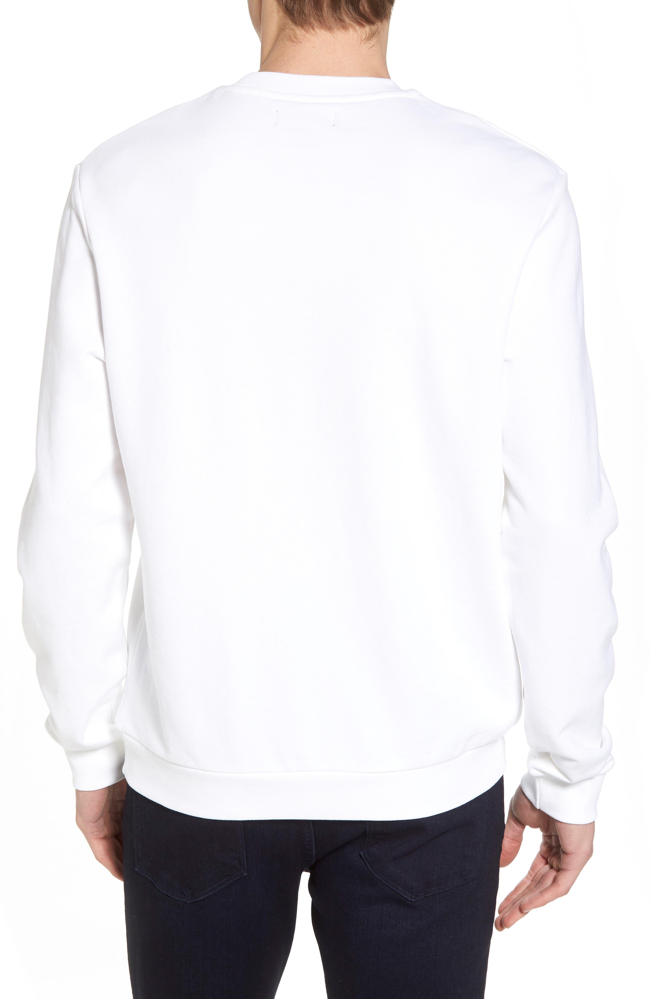 Tennis Sweatshirt,                             Alternate thumbnail 2, color,                             White