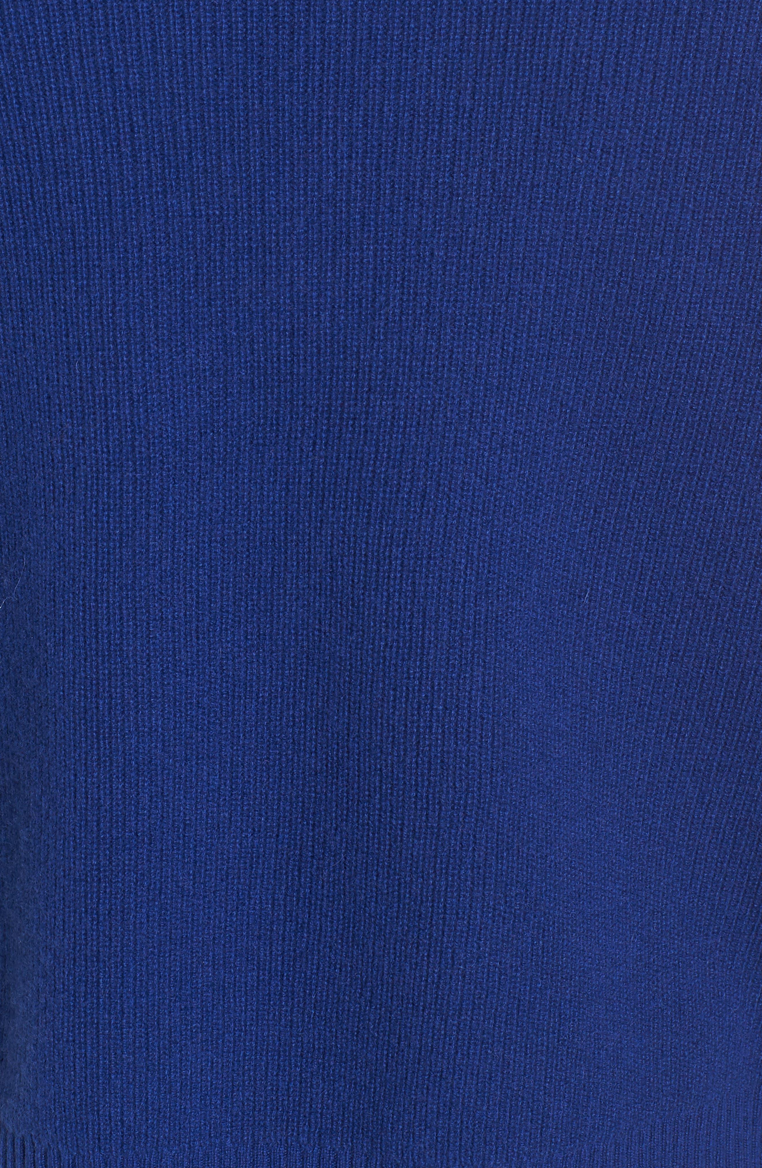Cashmere Sweater,                             Alternate thumbnail 5, color,                             Coblt Blue
