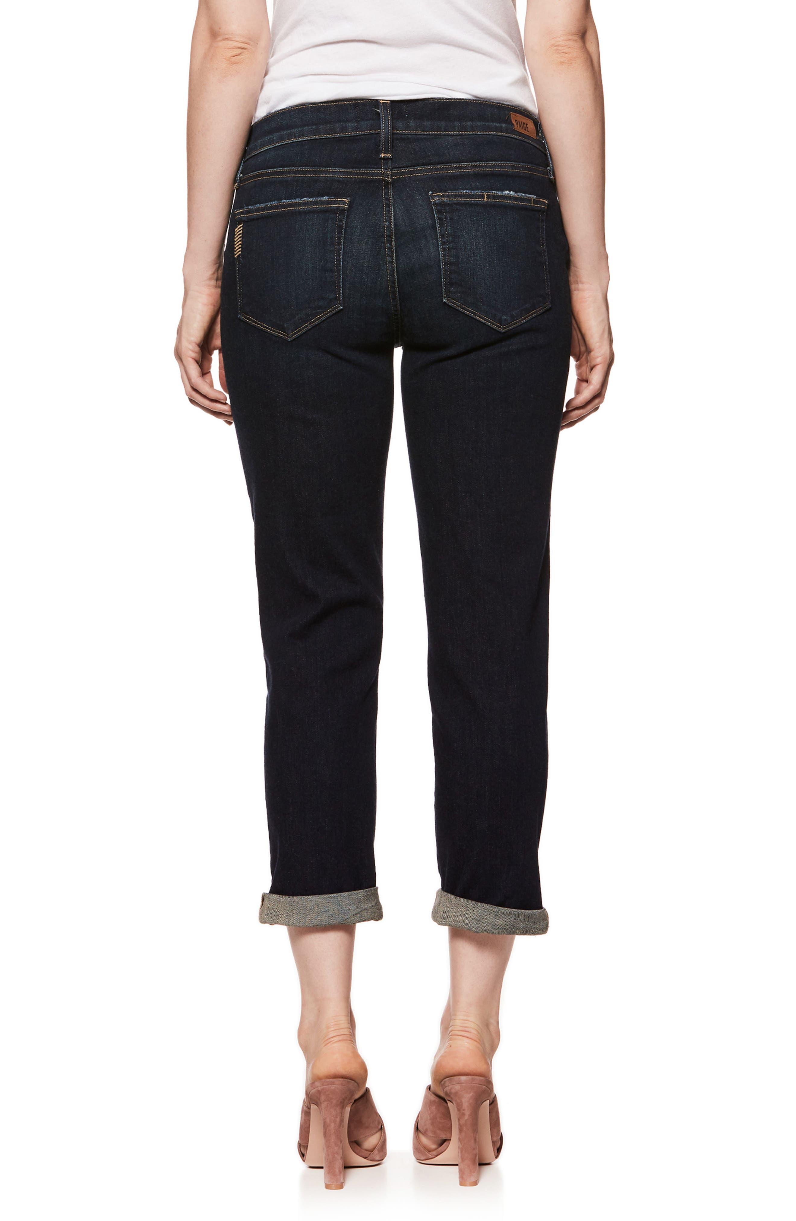 Brigitte Crop Boyfriend Maternity Jeans,                             Alternate thumbnail 2, color,                             Henley Distressed