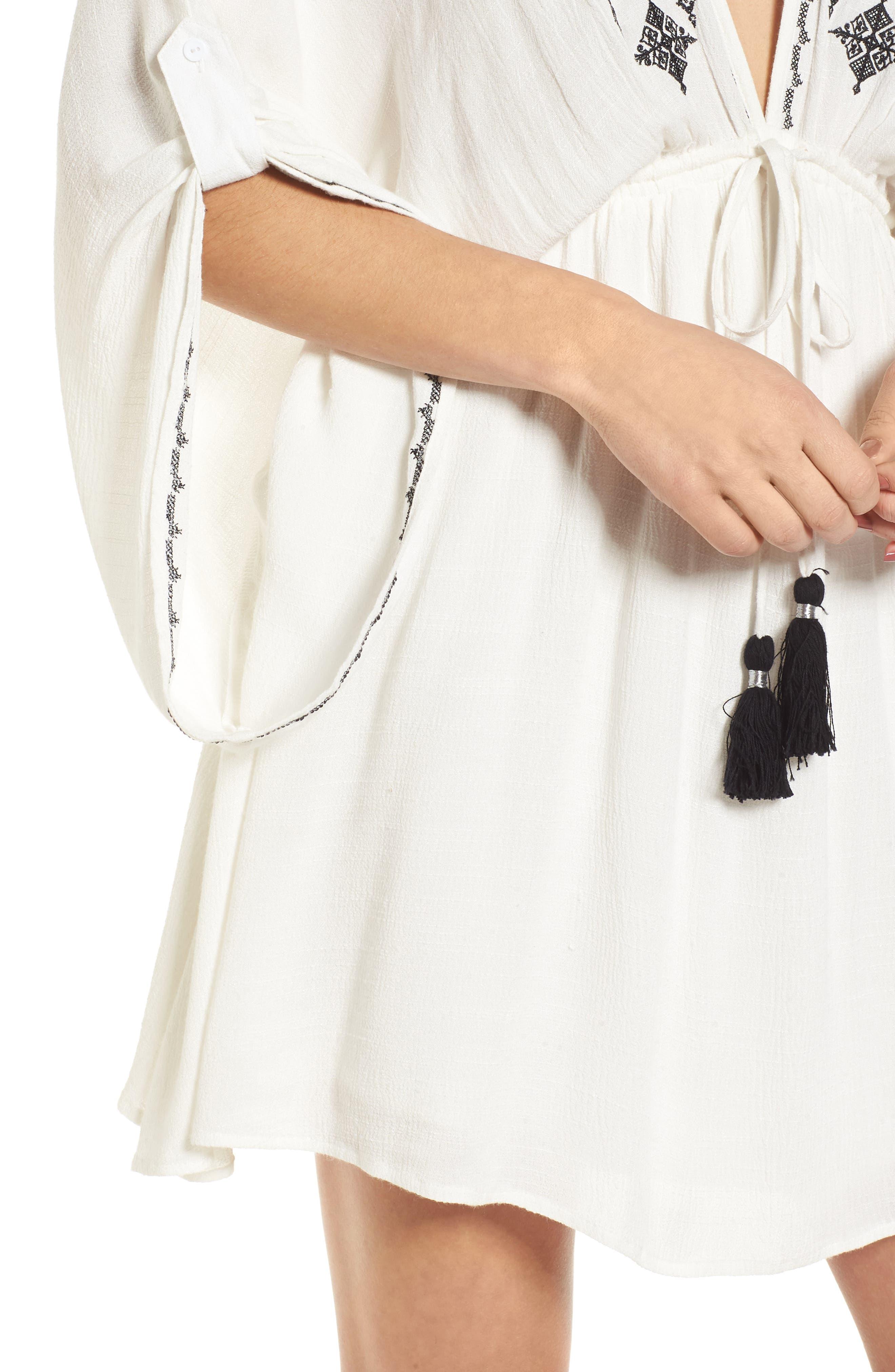 Festival Embroidered Dress,                             Alternate thumbnail 5, color,                             White