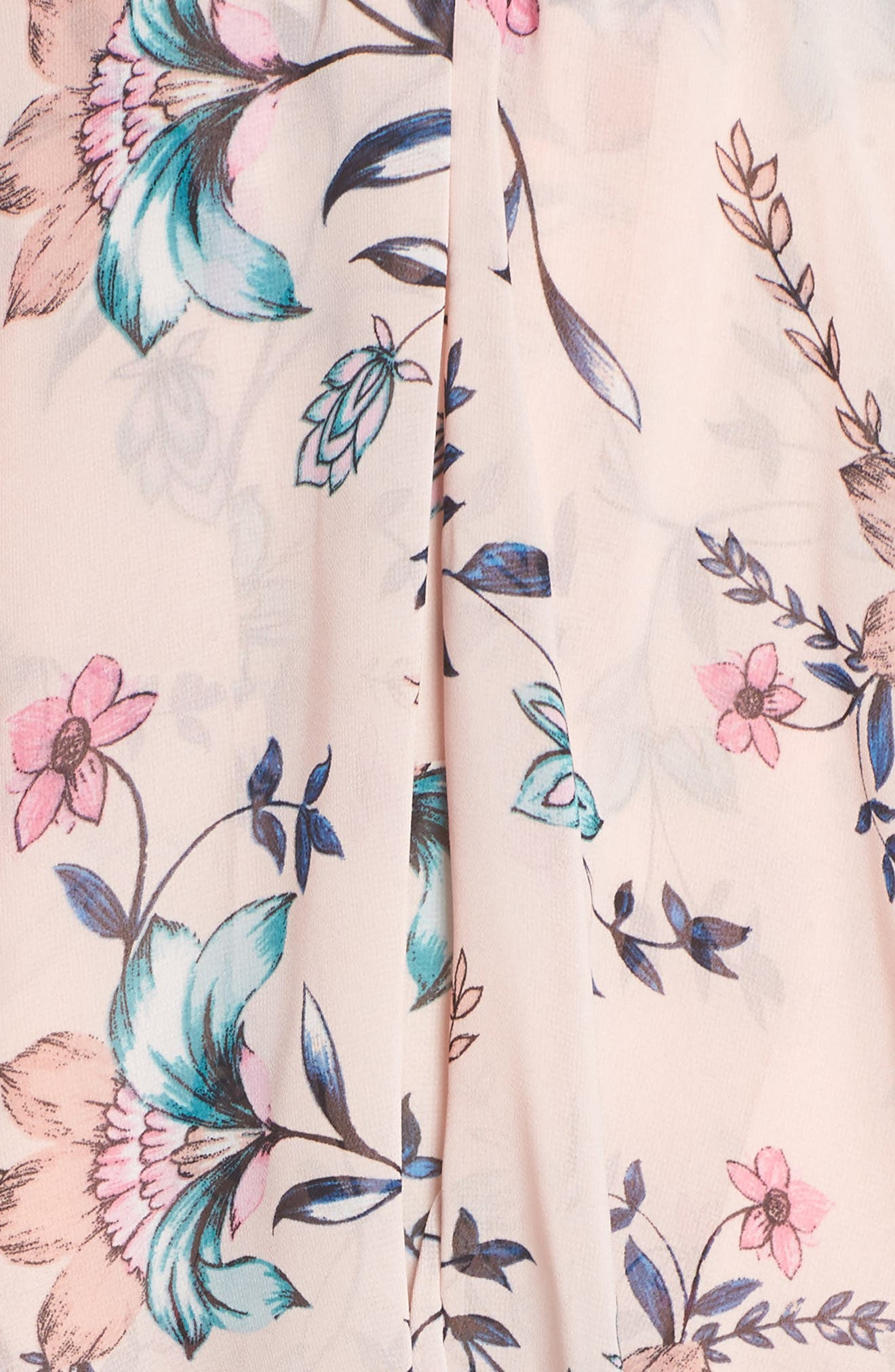 Floral Ruffle Dress,                             Alternate thumbnail 5, color,                             Blush