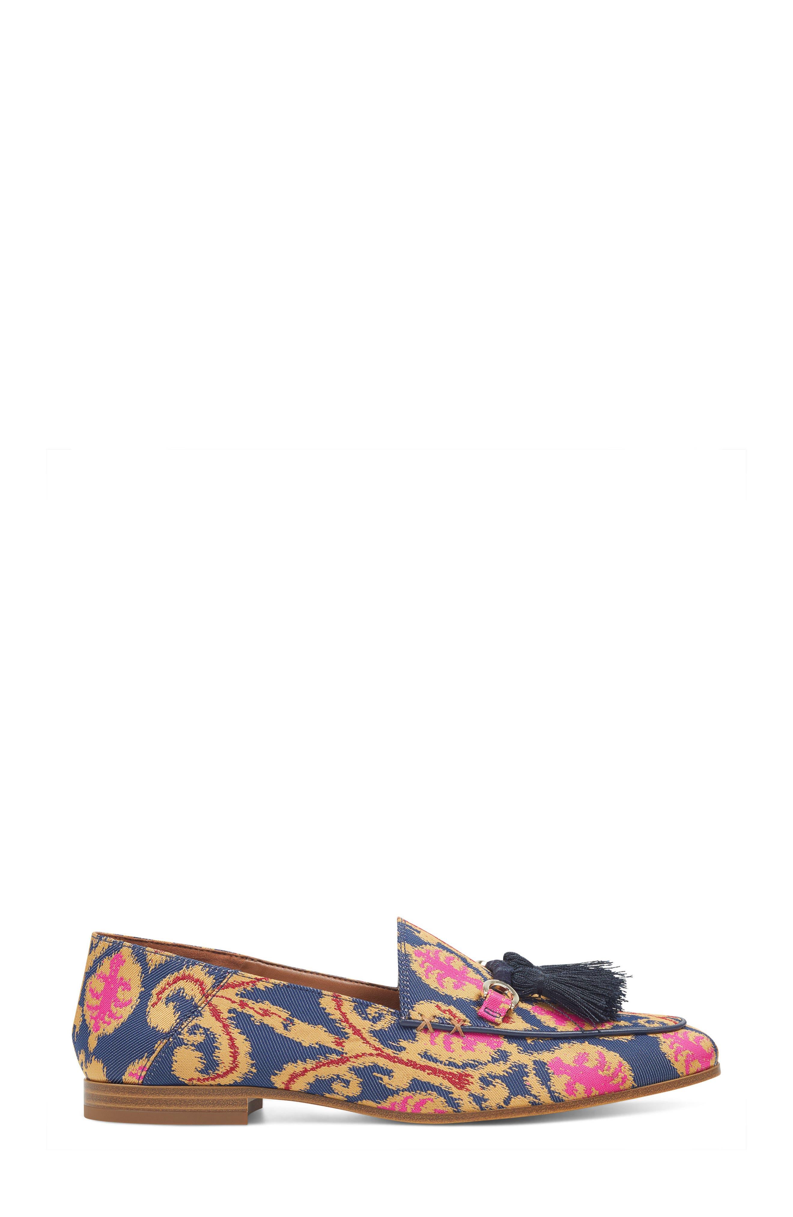 Weslir Tassel Loafer,                             Alternate thumbnail 3, color,                             Blue Multi Fabric