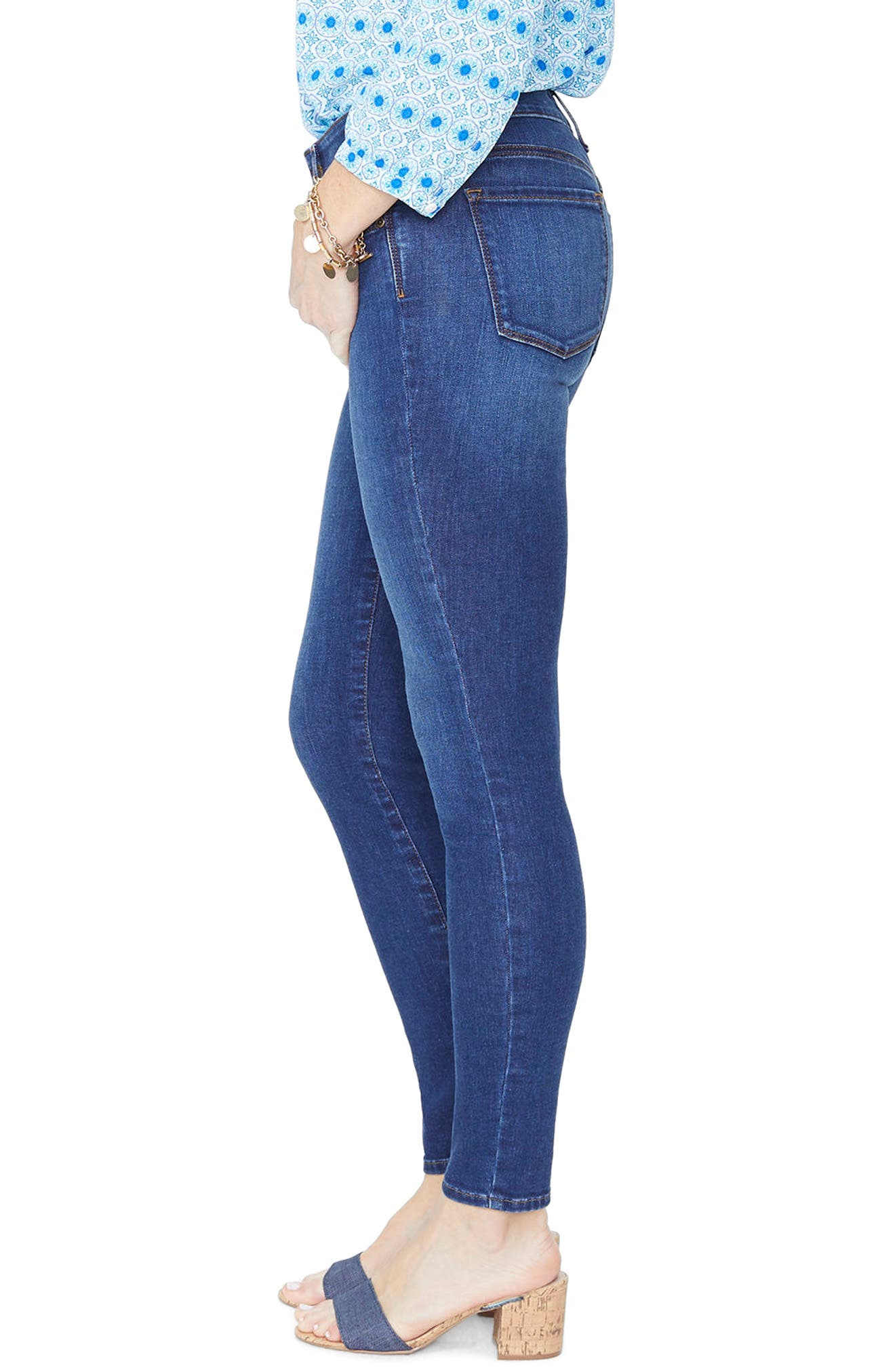 Ami Stretch Skinny Jeans,                             Alternate thumbnail 3, color,                             Cooper