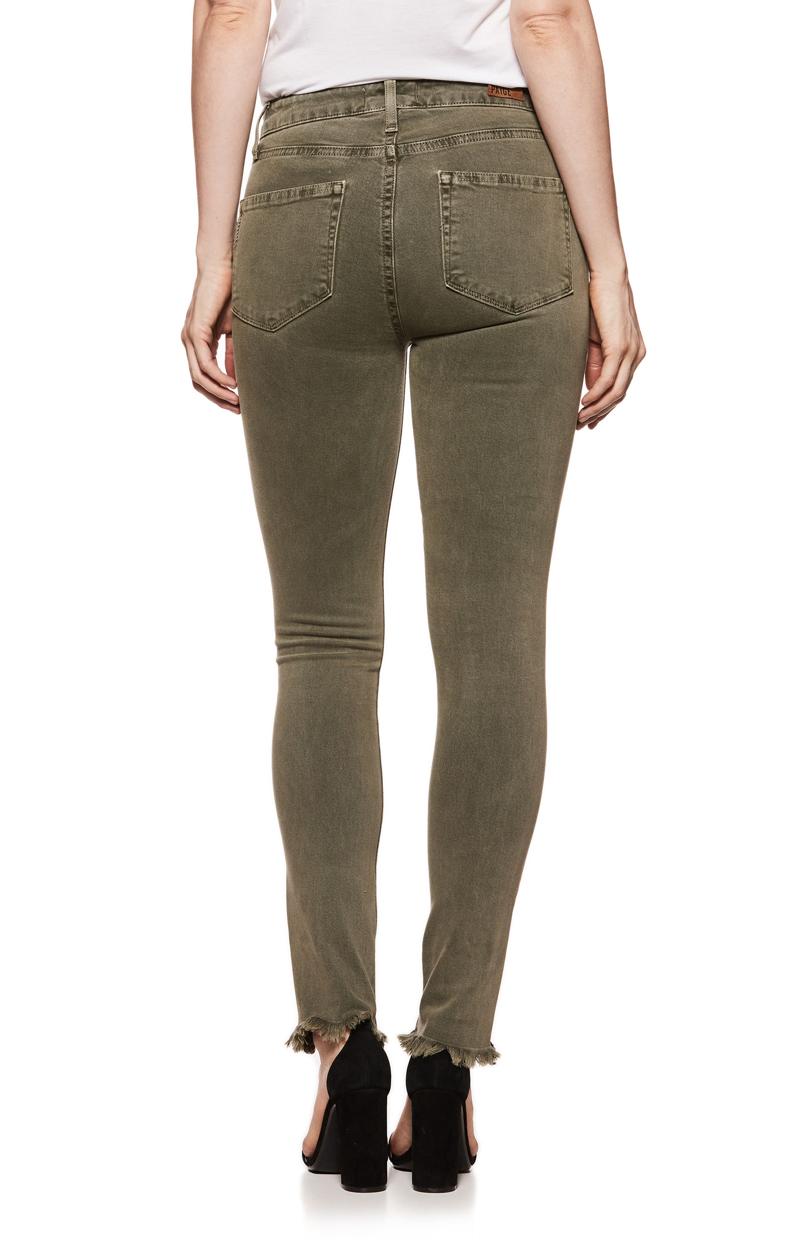Hoxton High Waist Ankle Skinny Jeans,                             Alternate thumbnail 3, color,                             Vintage Green