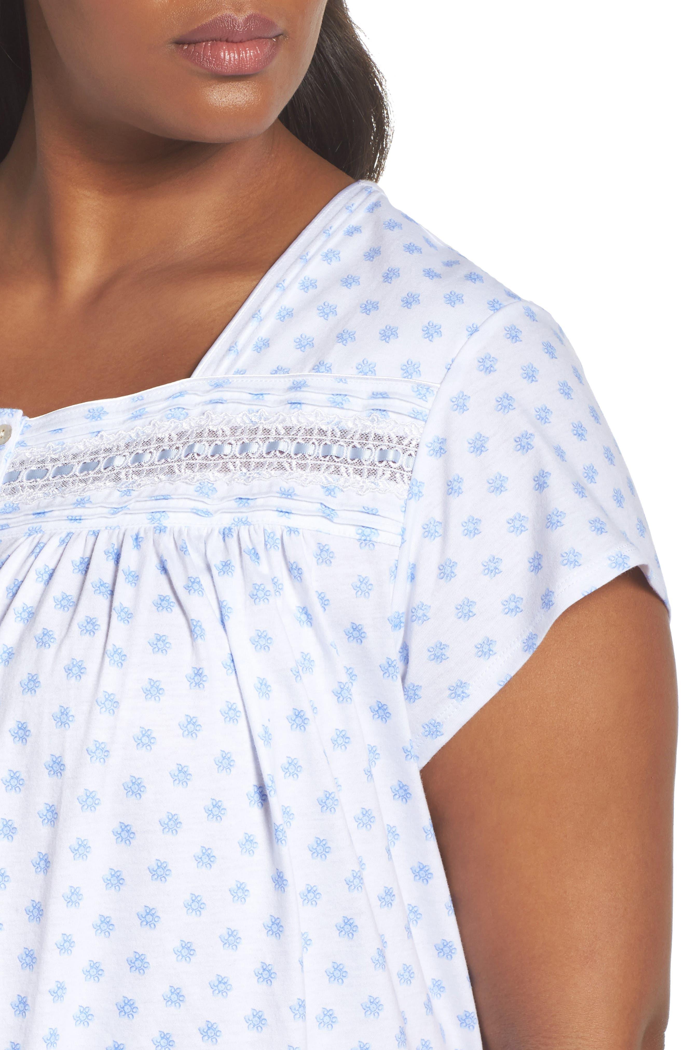 Alternate Image 5  - Eileen West Short Nightgown (Plus Size)