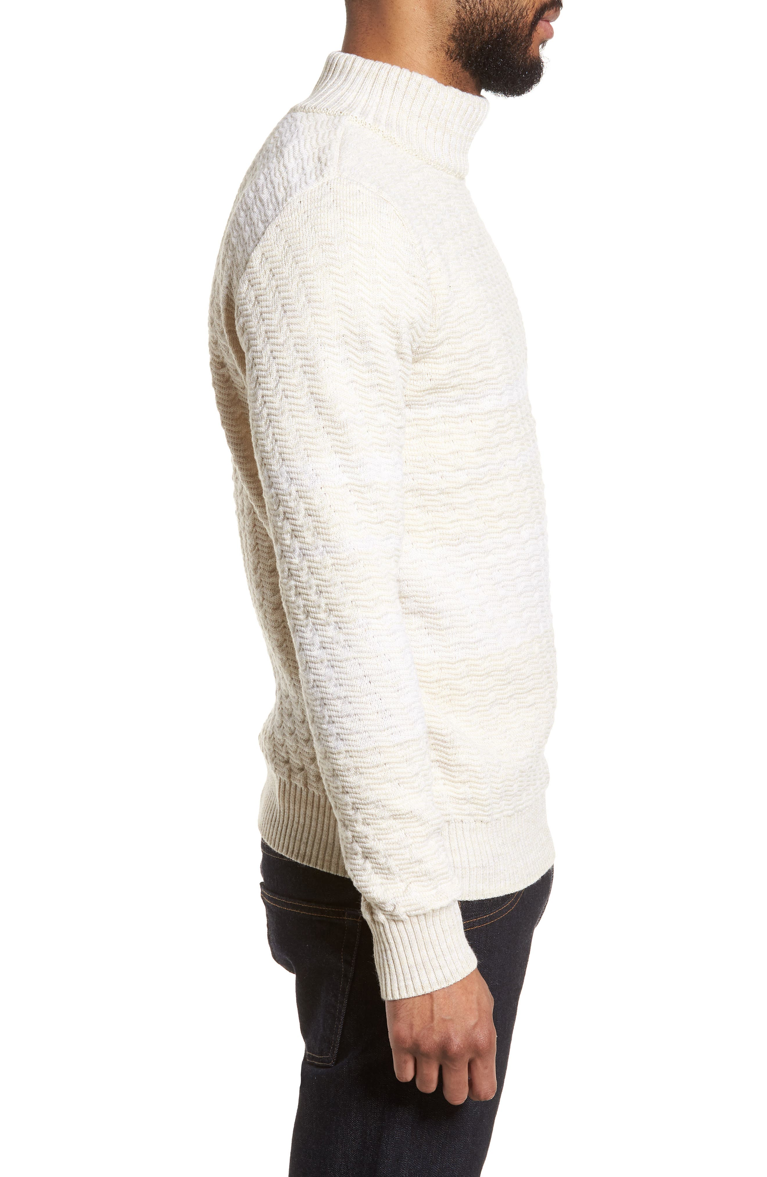 Evident Wool Turtleneck Sweater,                             Alternate thumbnail 3, color,                             Raw