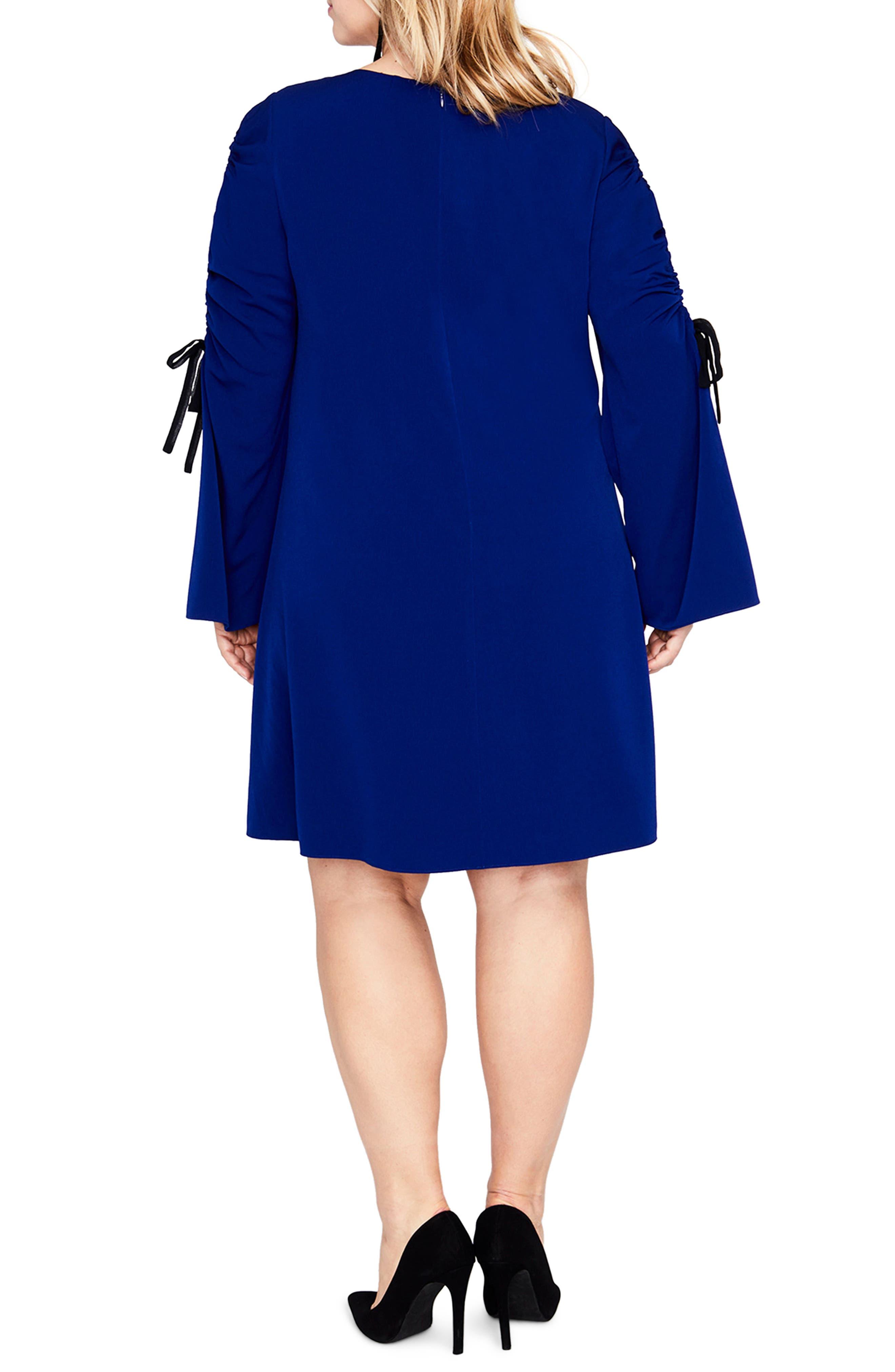 Split Tie Sleeve Shift Dress,                             Alternate thumbnail 2, color,                             Blue Violet