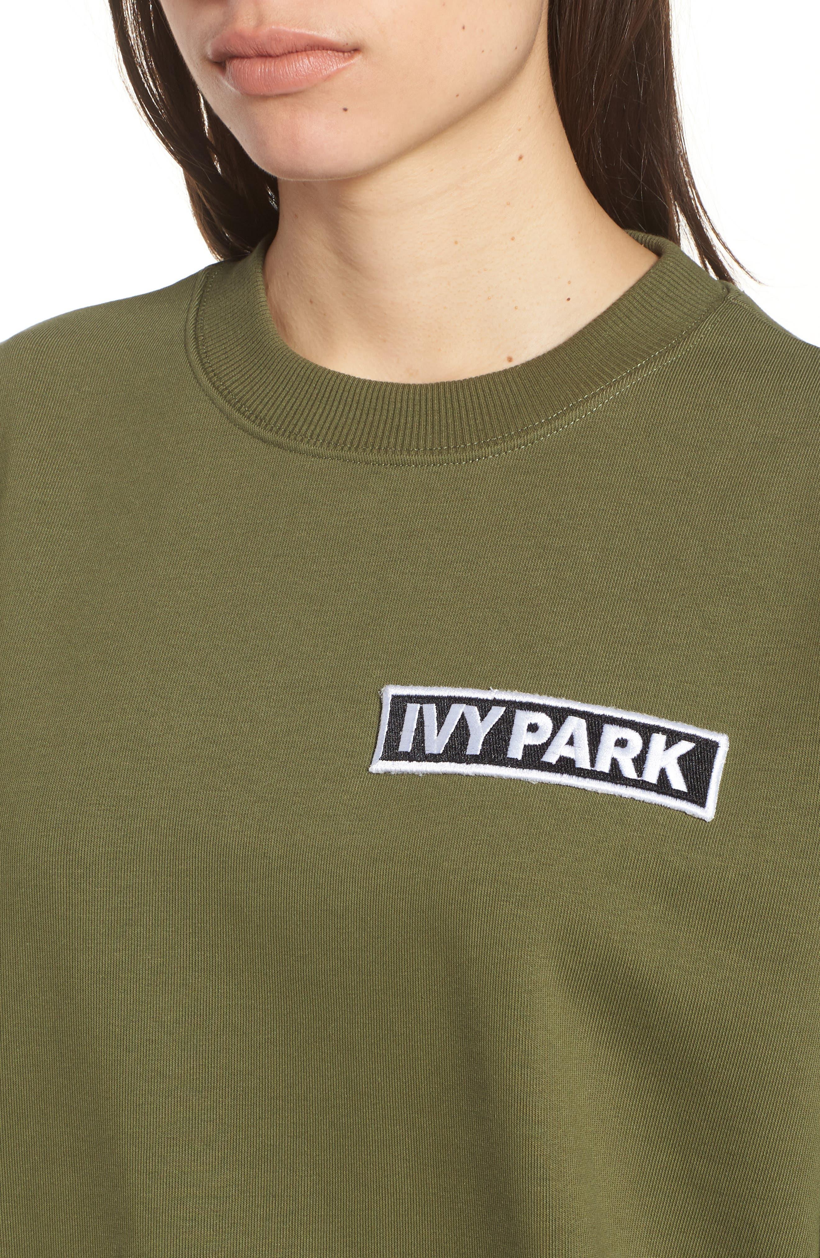 Alternate Image 4  - IVY PARK® Badge Logo Sweatshirt