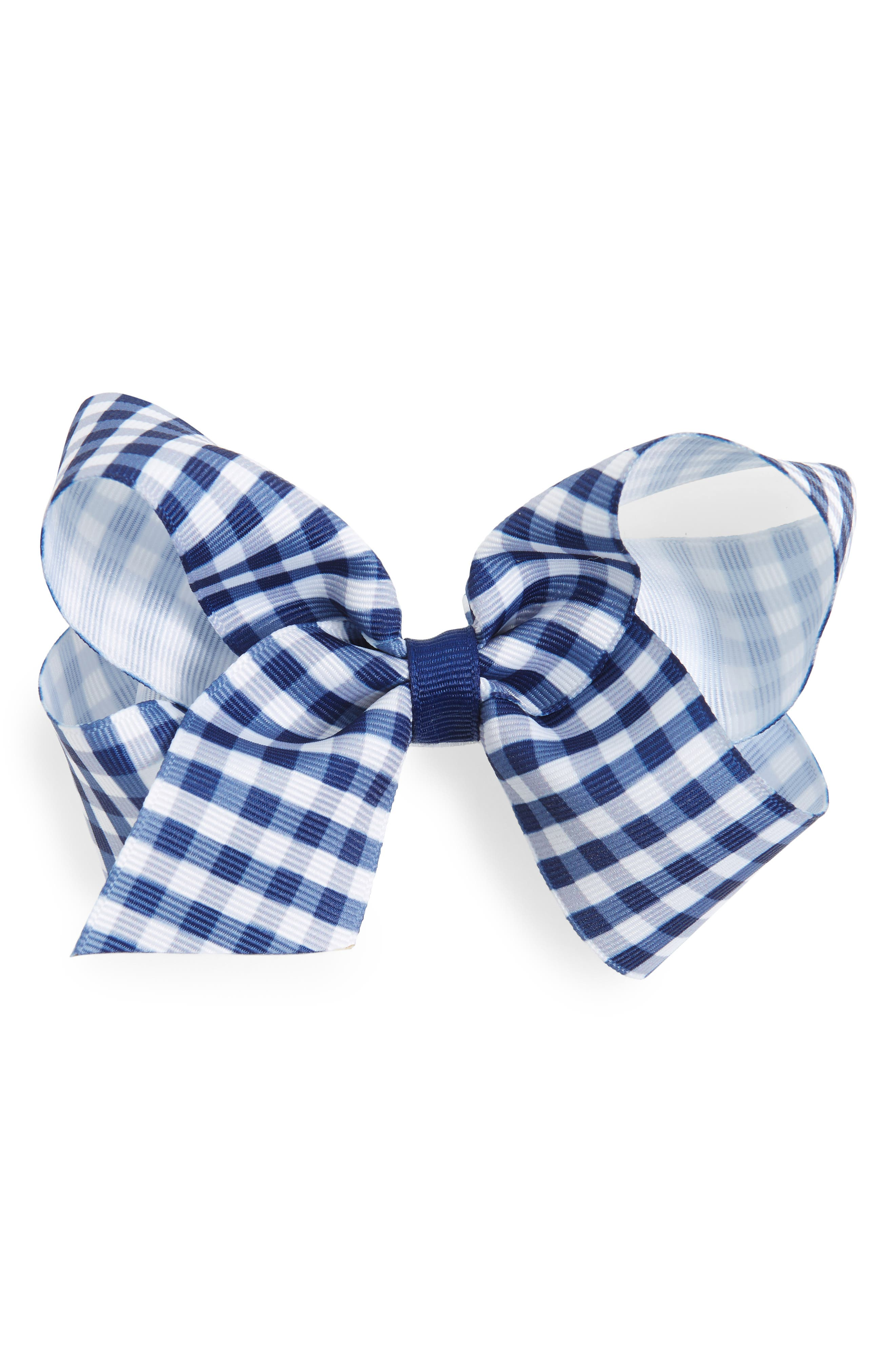 Alternate Image 1 Selected - PLH Bows & Laces Gingham Bow Clip (Baby Girls)