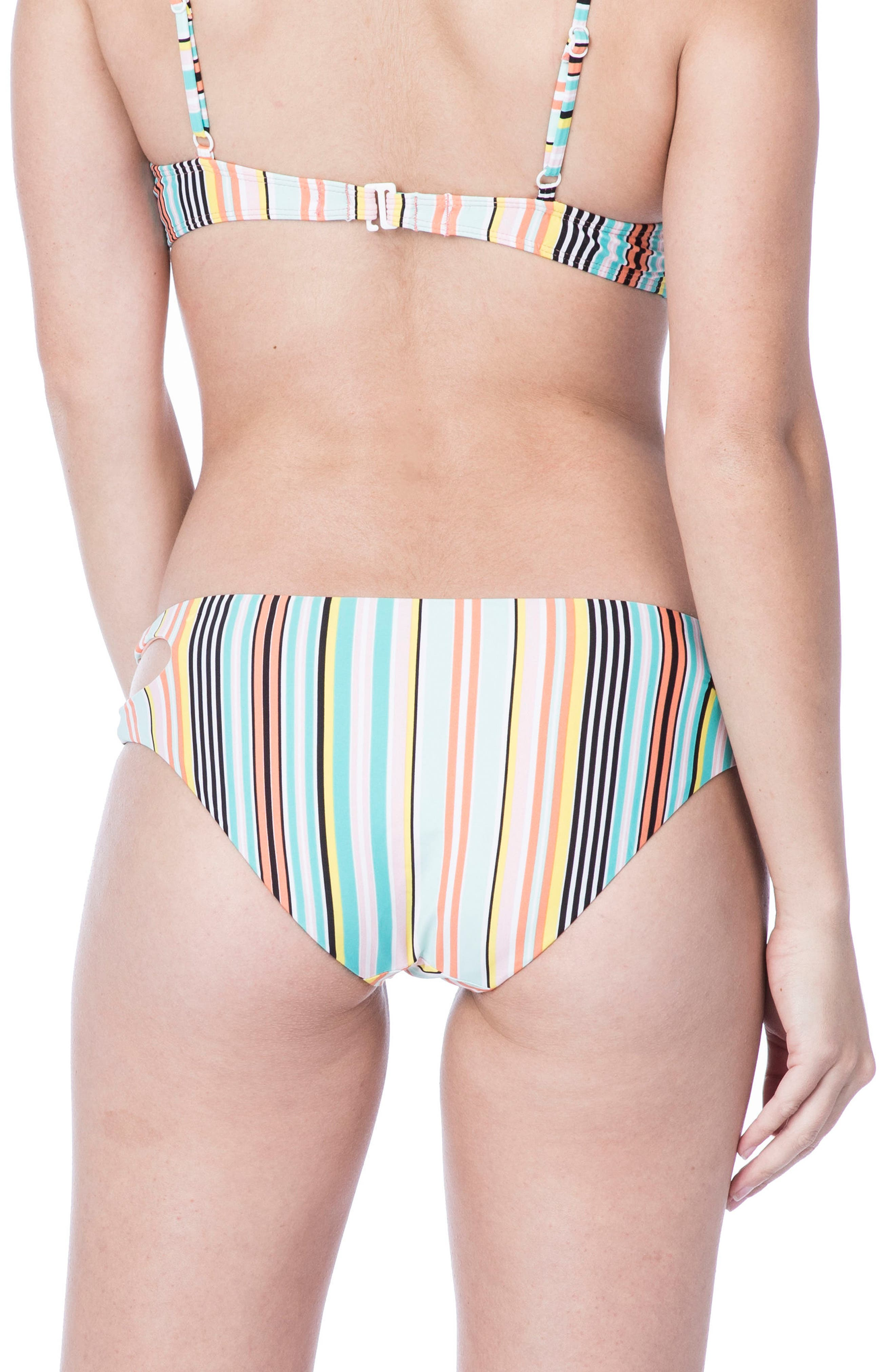Stripe Bikini Bottoms,                             Alternate thumbnail 2, color,                             Multi