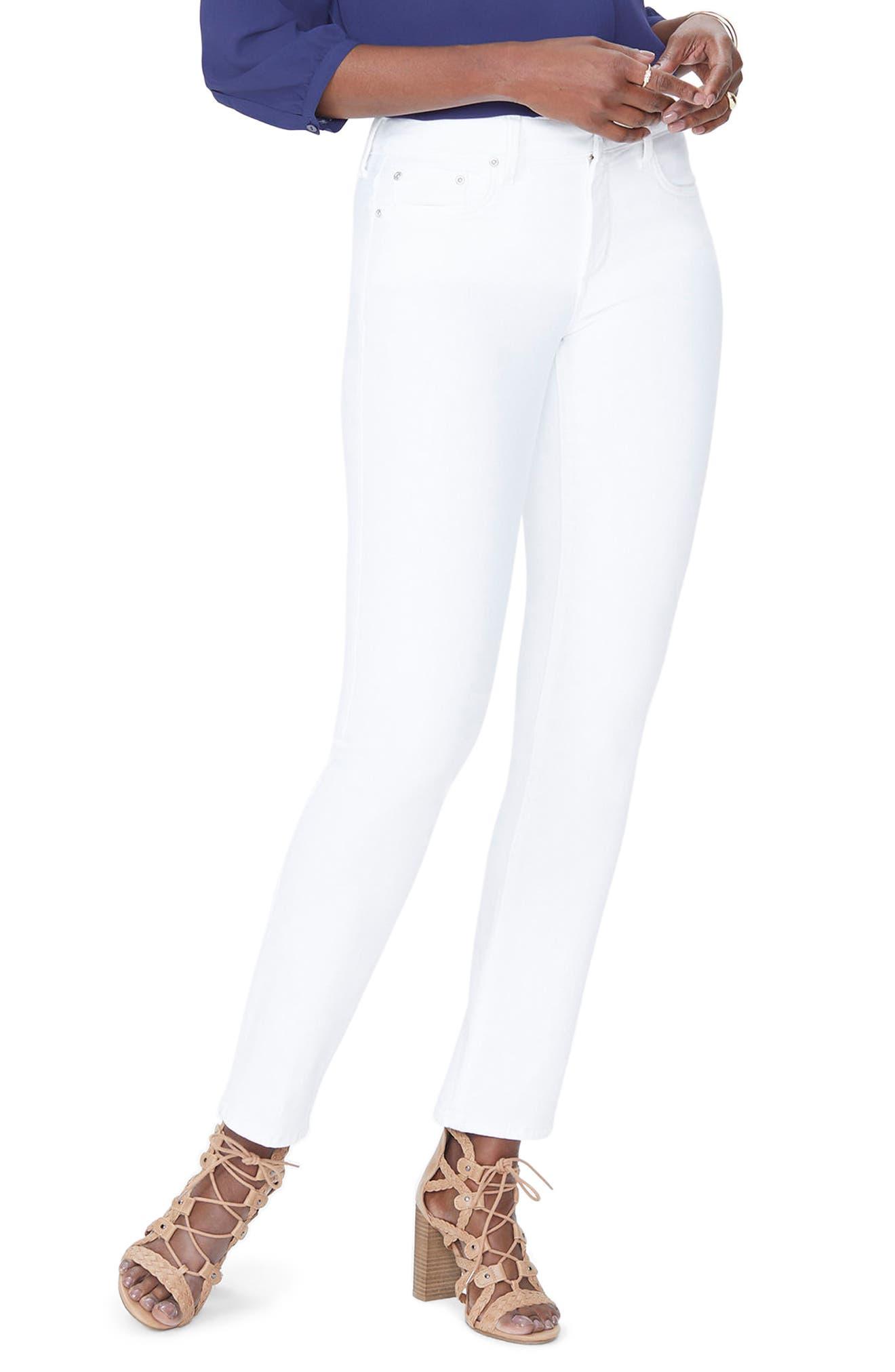 Sheri Slim Jeans,                         Main,                         color, Optic White