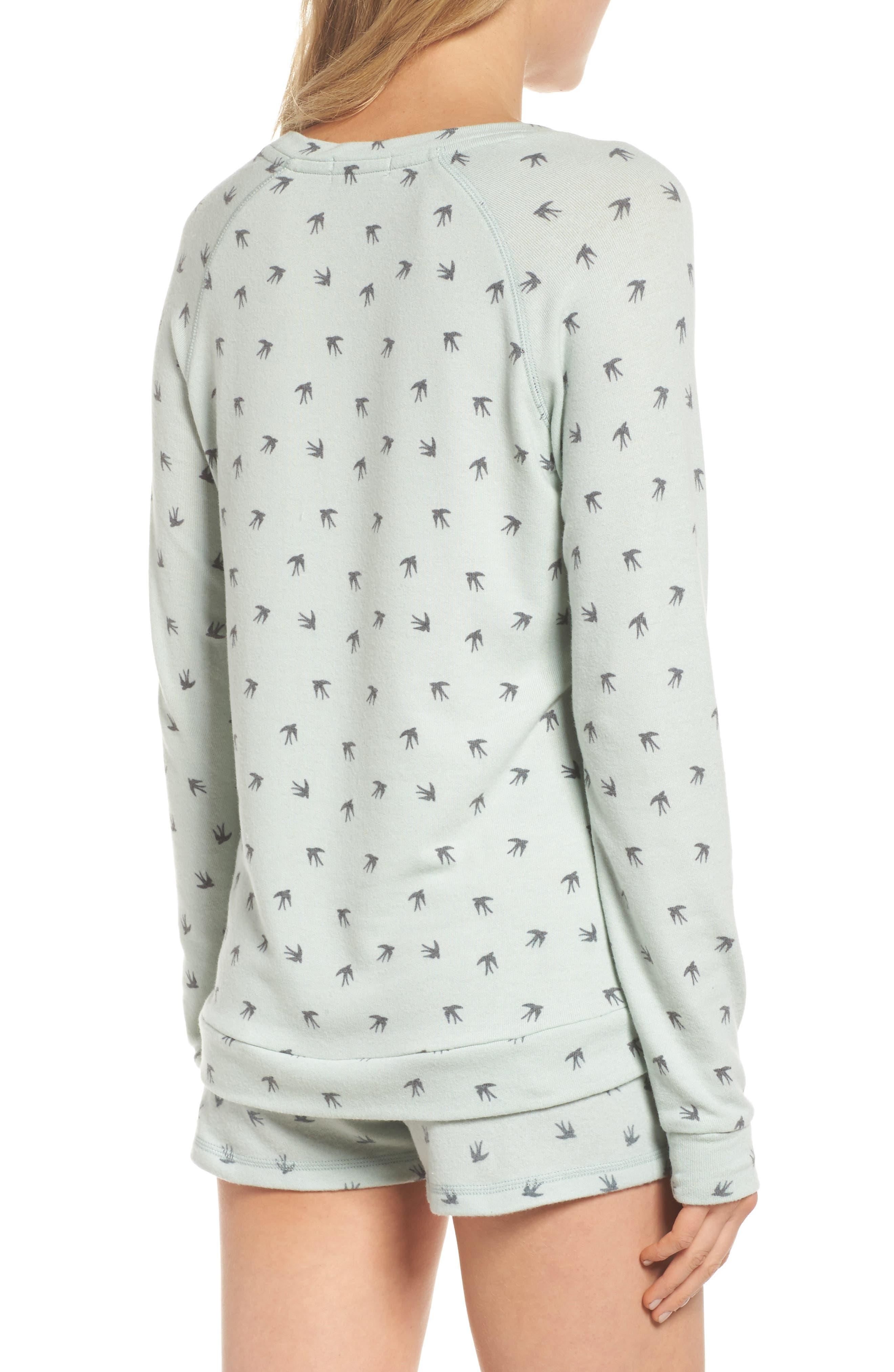 Peachy Pajama Top,                             Alternate thumbnail 2, color,                             Seafoam