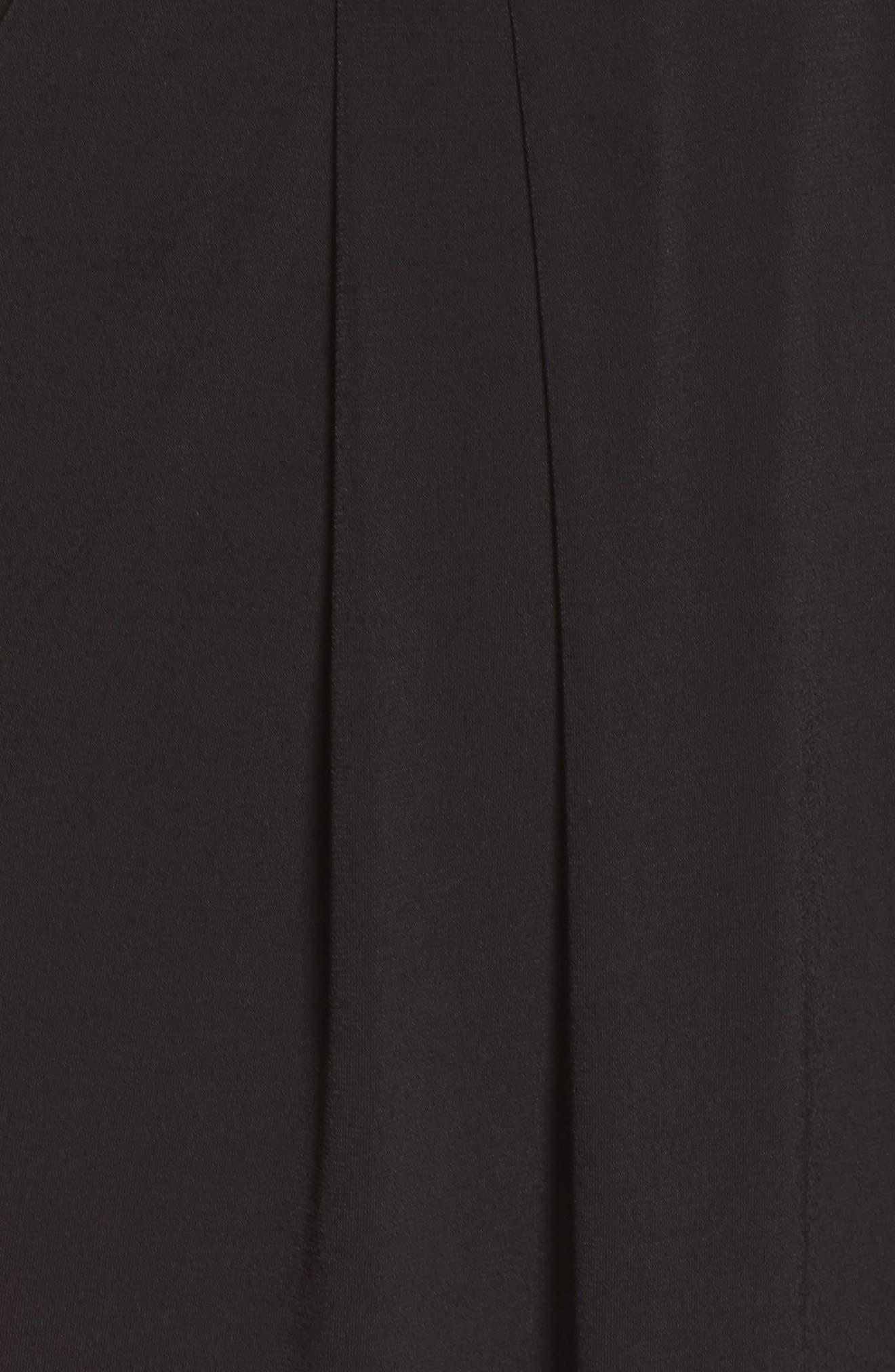 Wide Leg Jumpsuit,                             Alternate thumbnail 5, color,                             Black