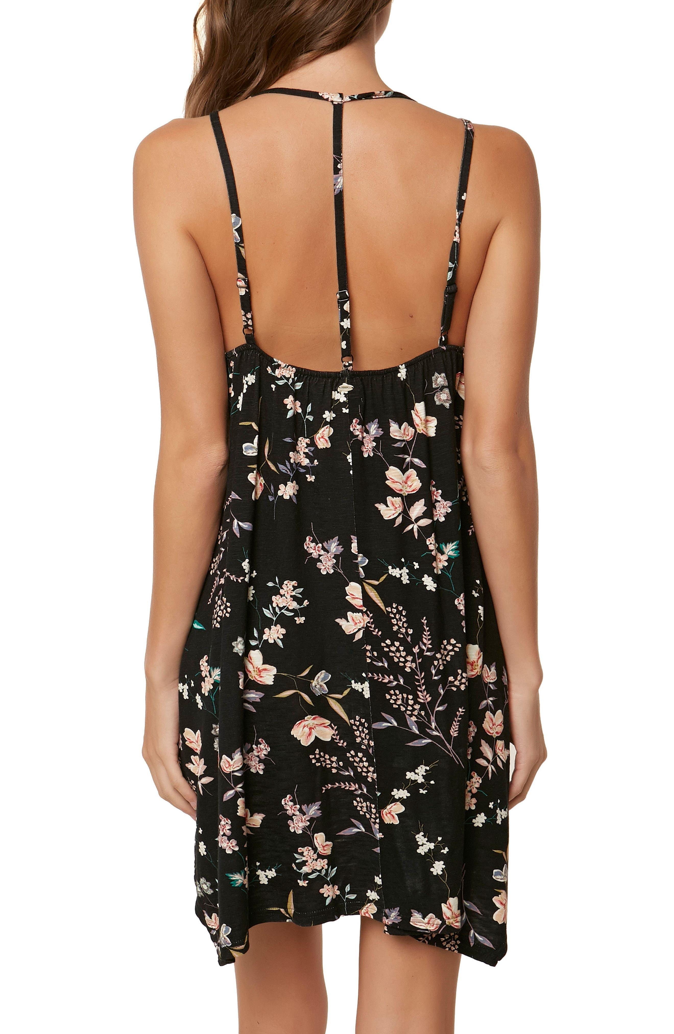 Sylvan Strappy Dress,                             Alternate thumbnail 2, color,                             Black