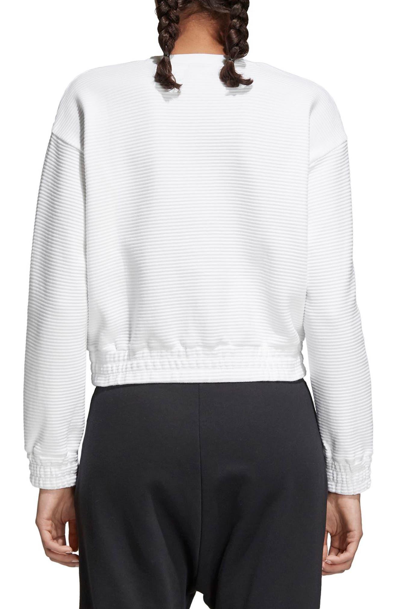 EQT Sweatshirt,                             Alternate thumbnail 2, color,                             White