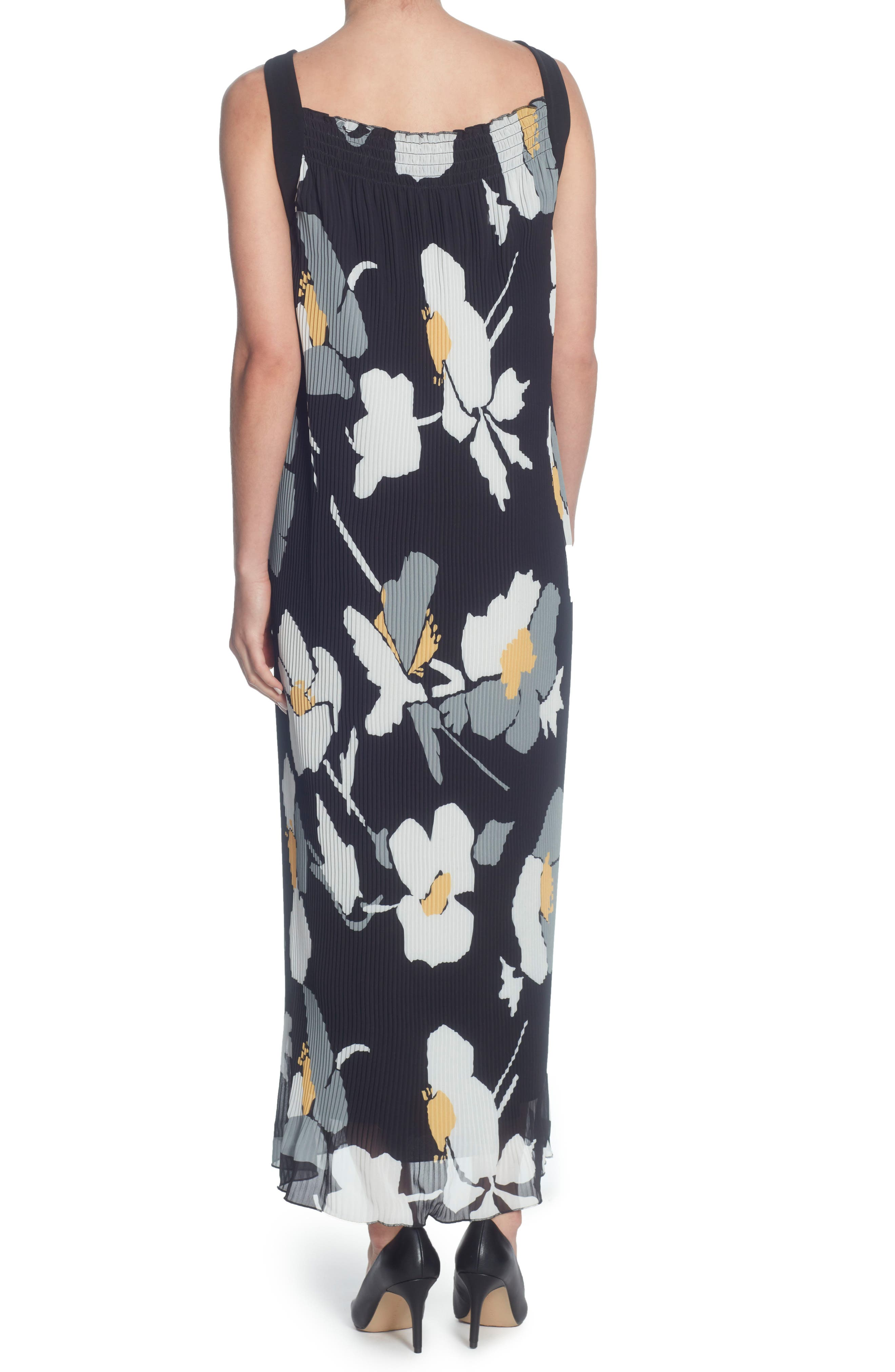 Delphine Pleated Maxi Dress,                             Alternate thumbnail 2, color,                             Oversized Floral Banana