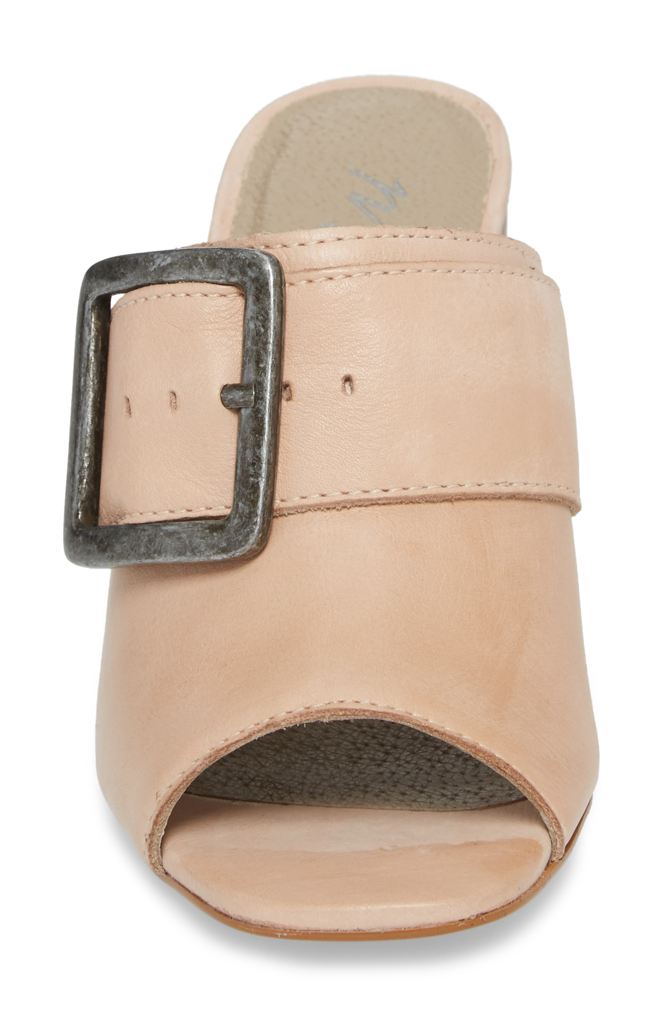 Beatrice Sandal,                             Alternate thumbnail 4, color,                             Nude Leather