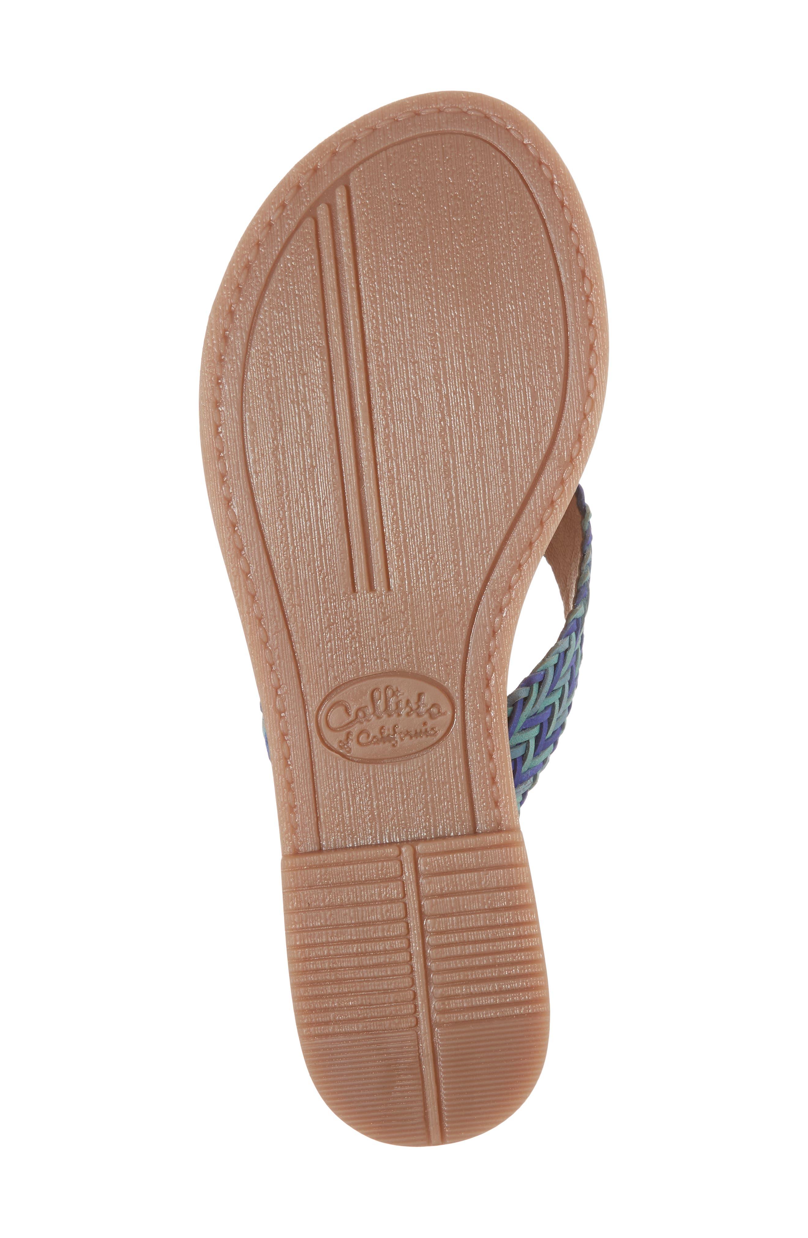 Pomm Flip Flop,                             Alternate thumbnail 6, color,                             Blue Leather